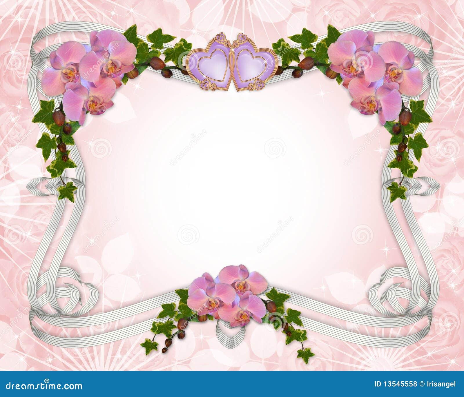 орхидеи плюща приглашения граници wedding