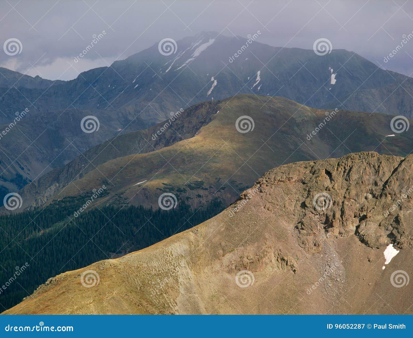 Осадки вдоль континентального водораздела, ряд Sawatch, Колорадо