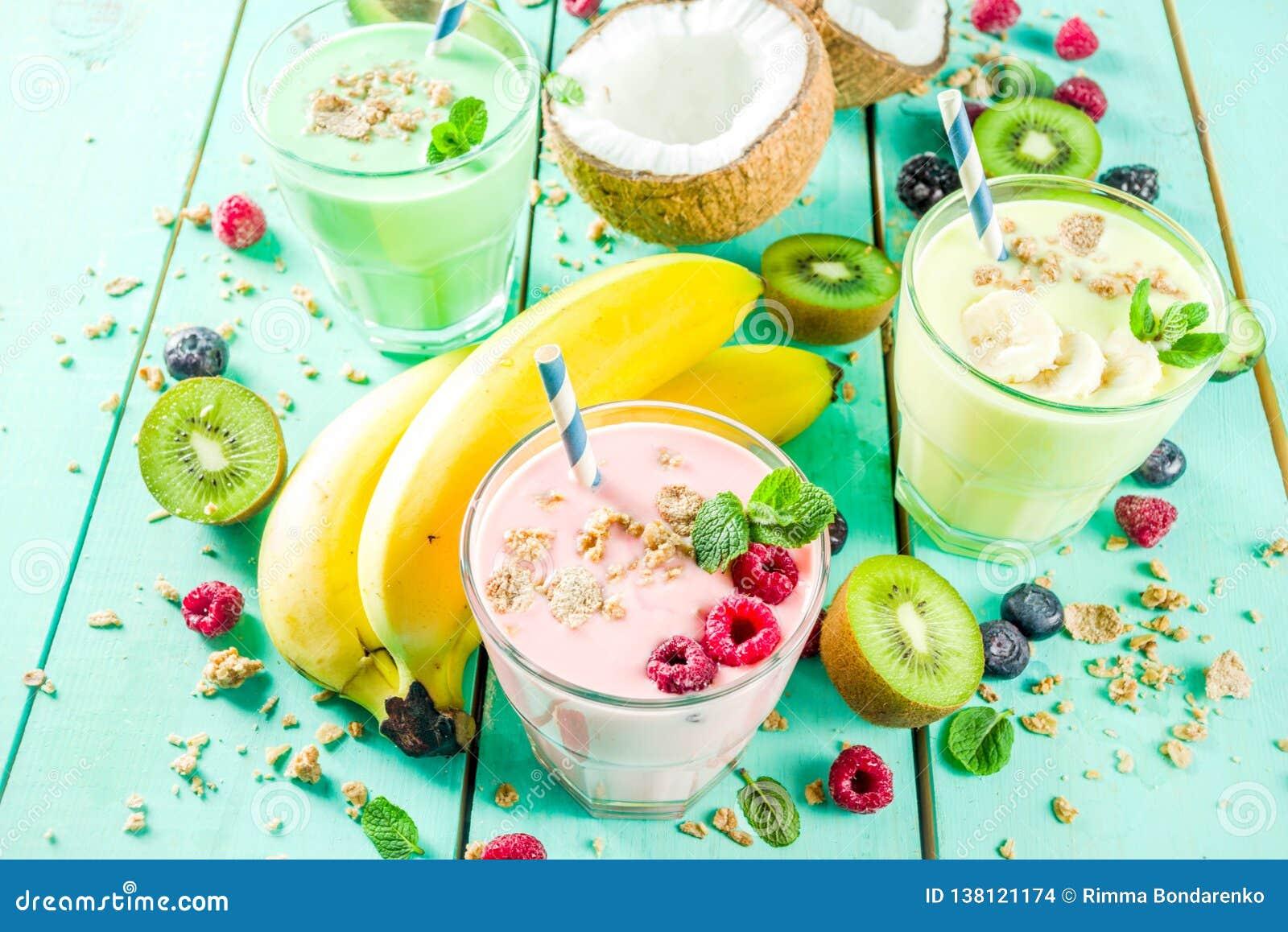 Освежая milkshakes или smoothies