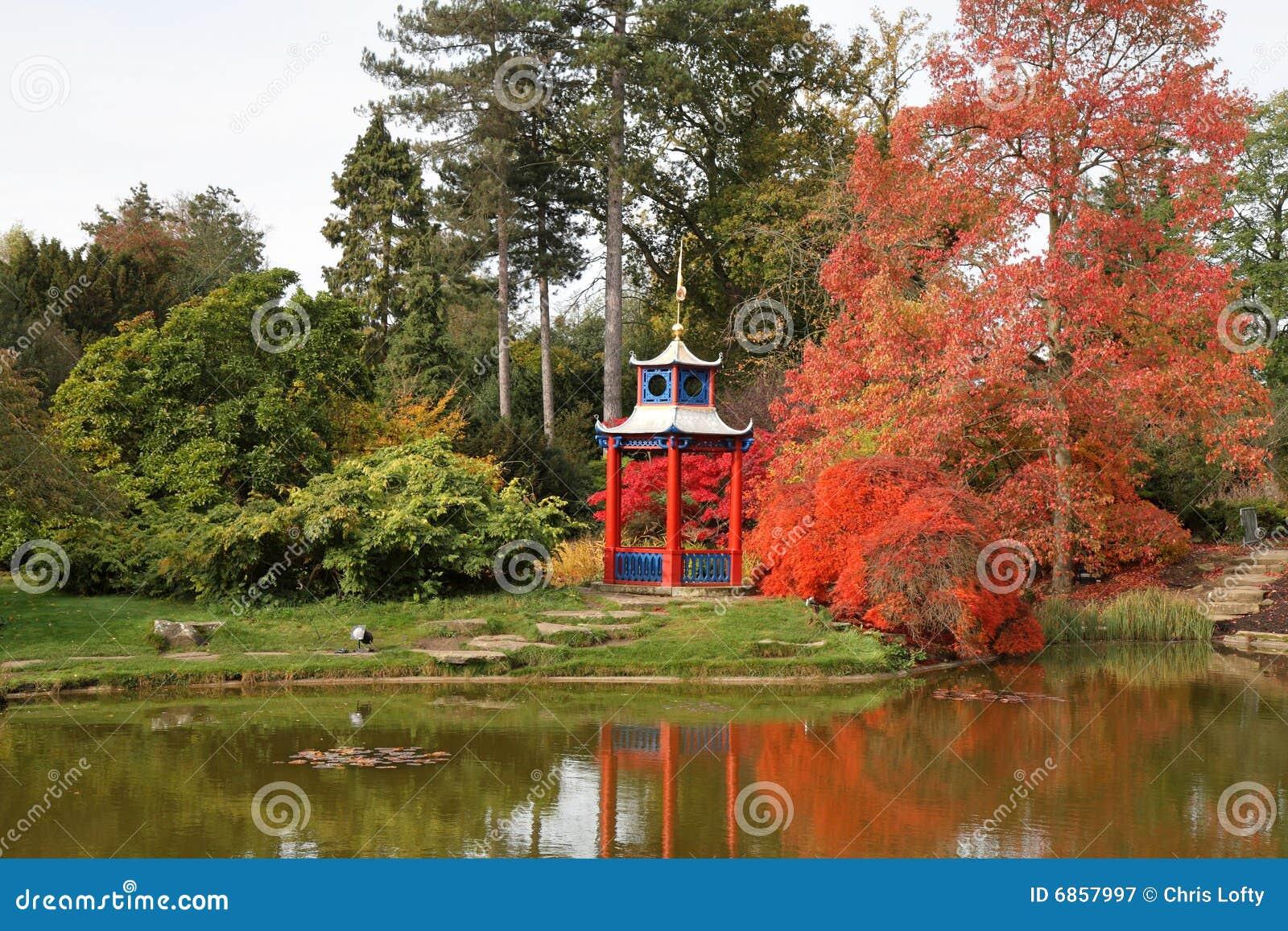 осень красит английский парк