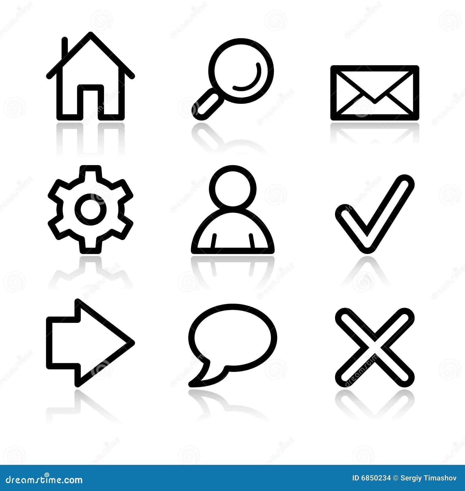 основная сеть икон контура