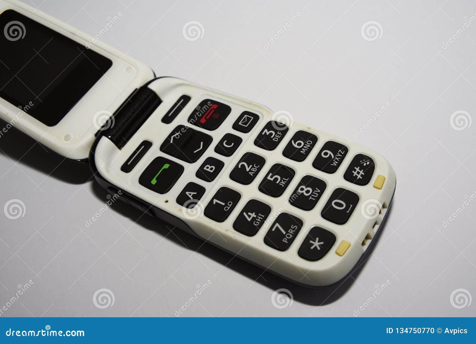 основной мобильный телефон Простой, примитивный и старомодный телефон сальто