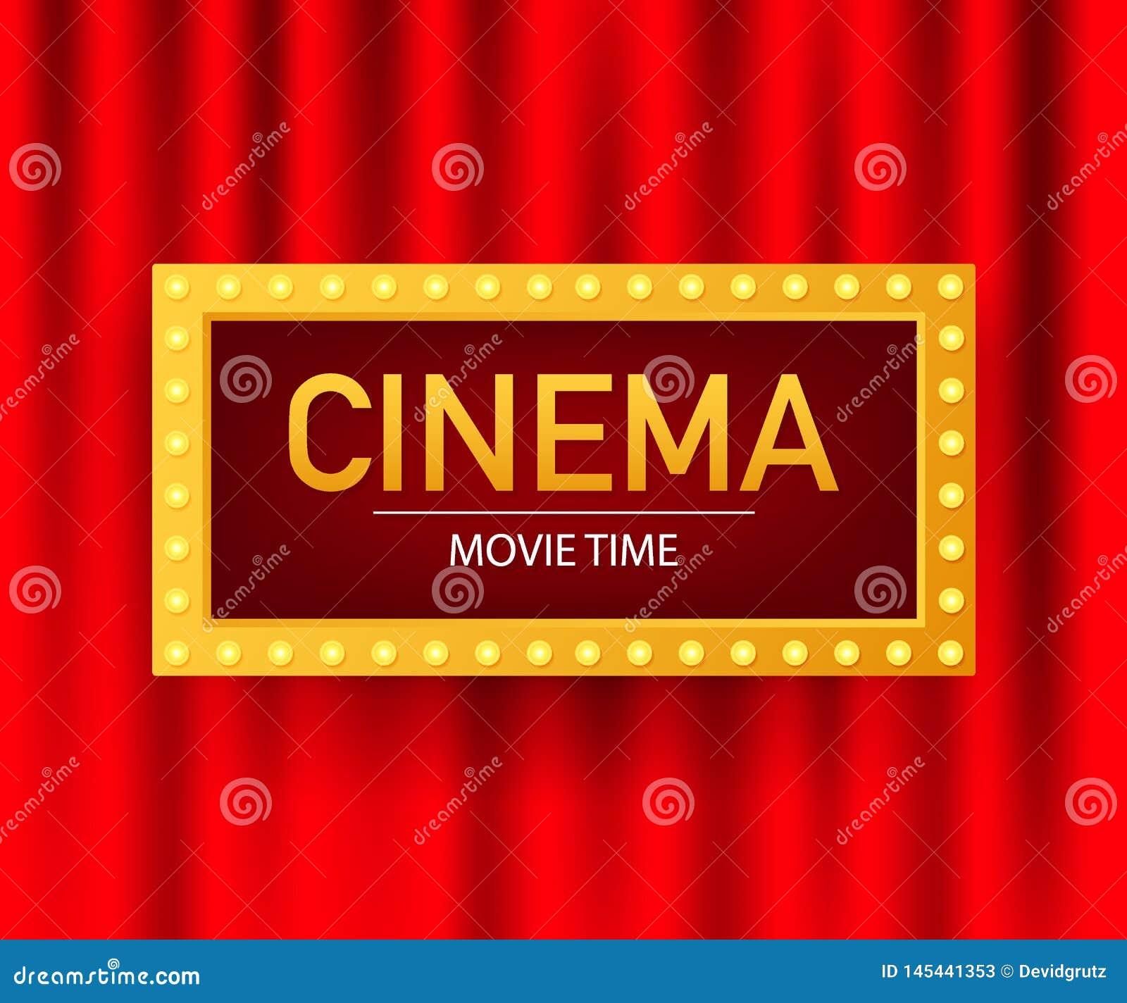 Cinema Movie Poster Design Template Popcorn Filmstrip