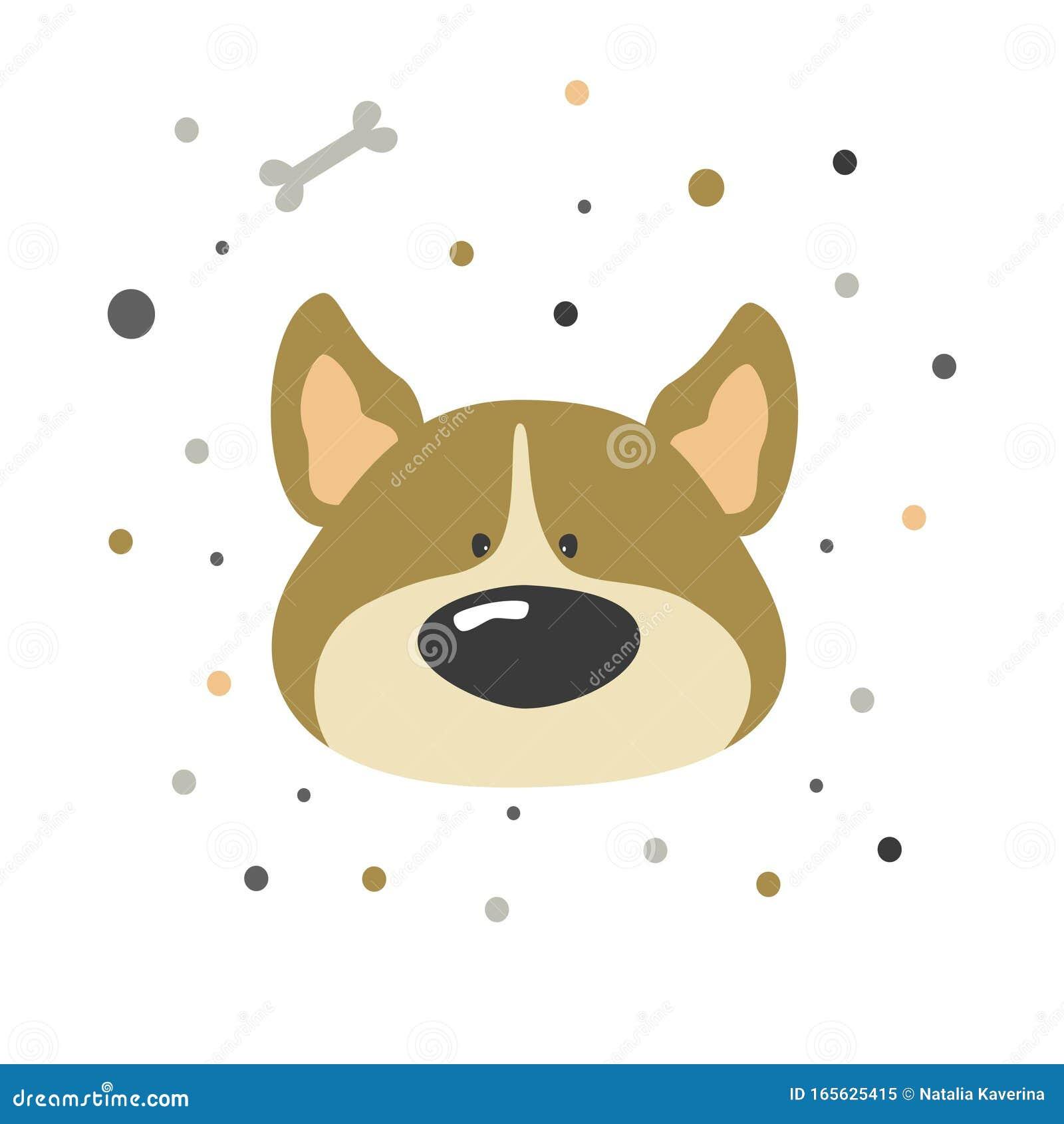 Cute Cartoon Vector Character Dog Baby Vector Print With Cute Dog
