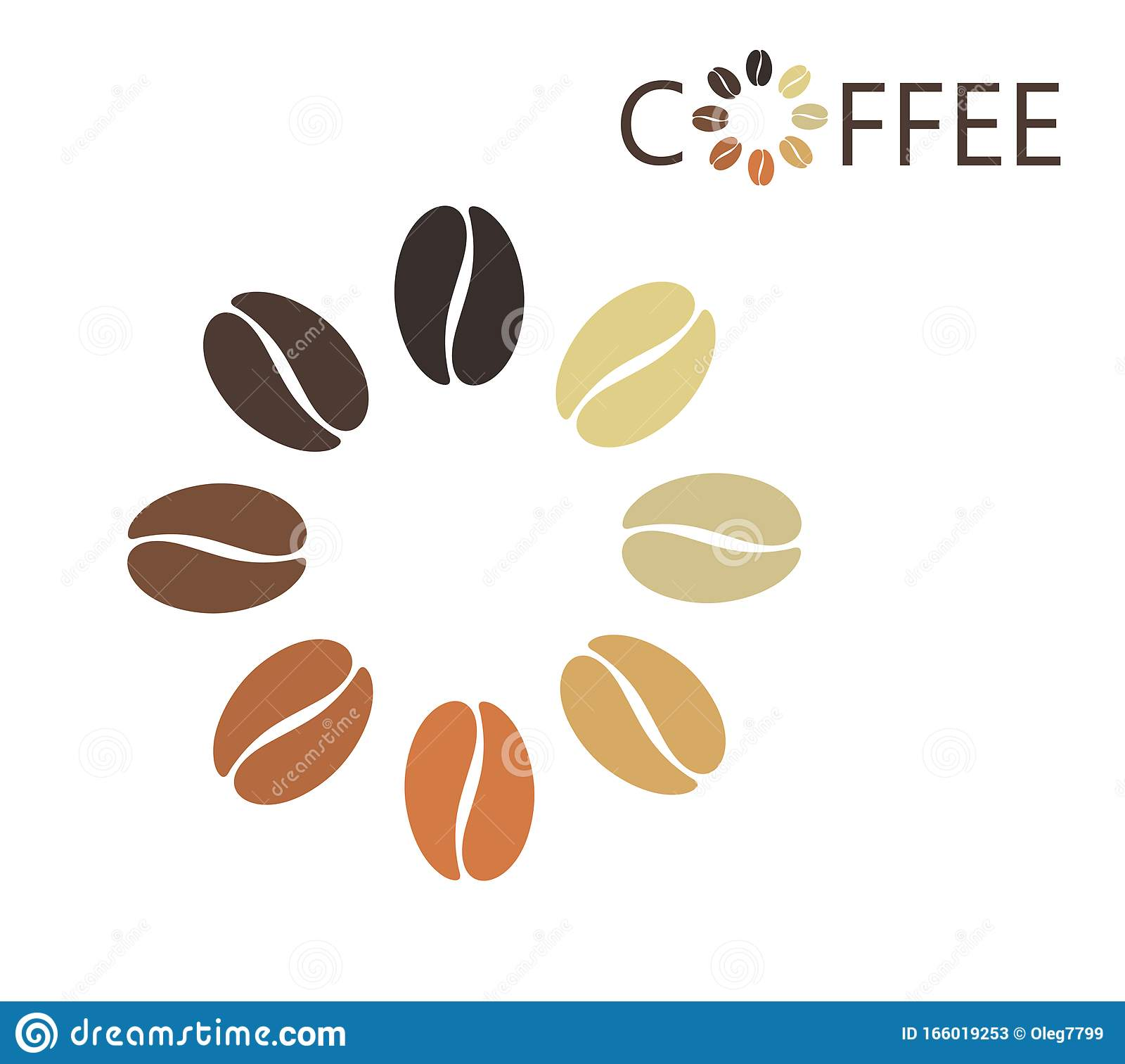 coffee bean logo isolated coffe beans on white background stock vector illustration of bean abstract 166019253 dreamstime com