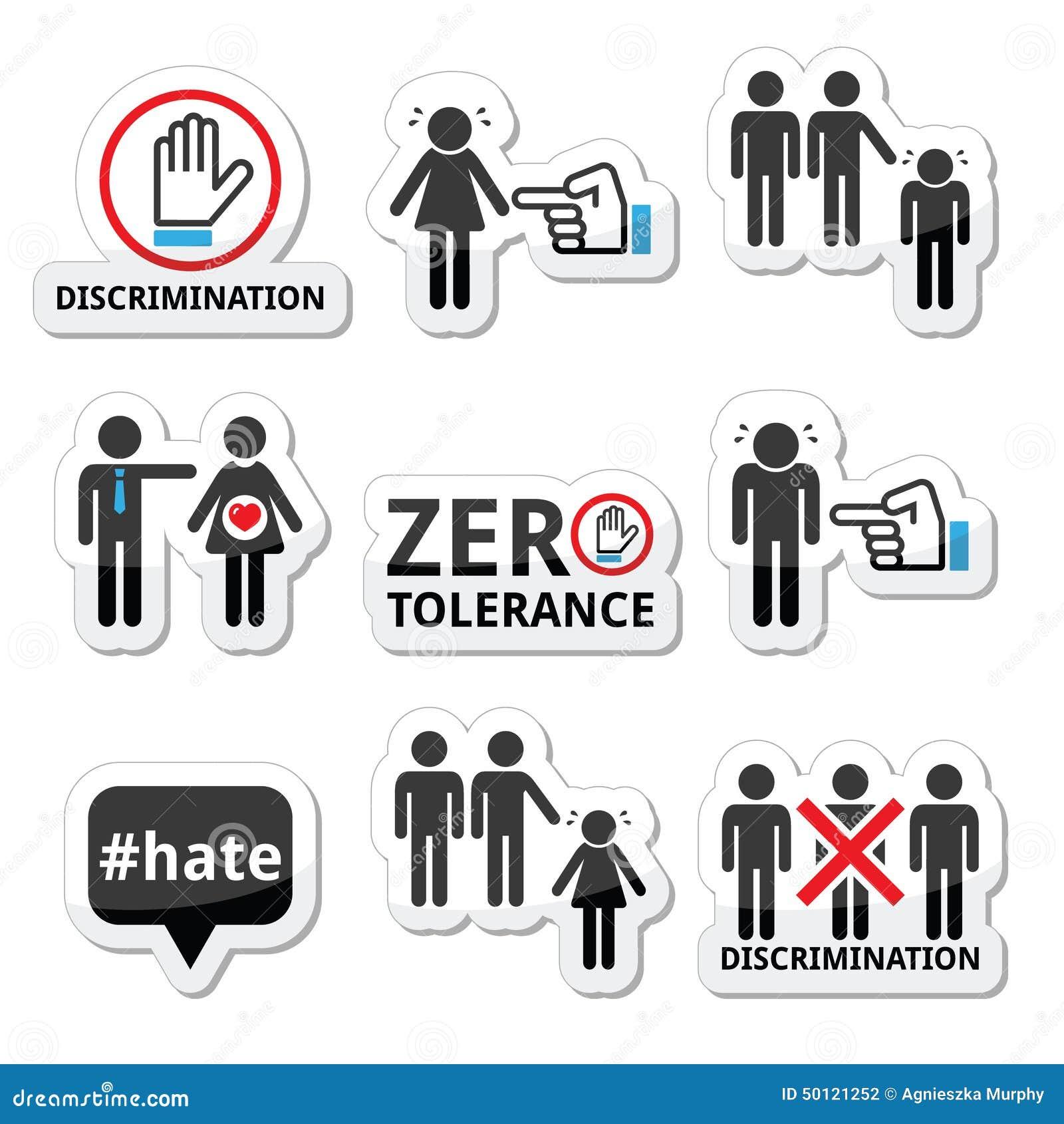 Остановите дискриминацию людей, и установленных значков женщин