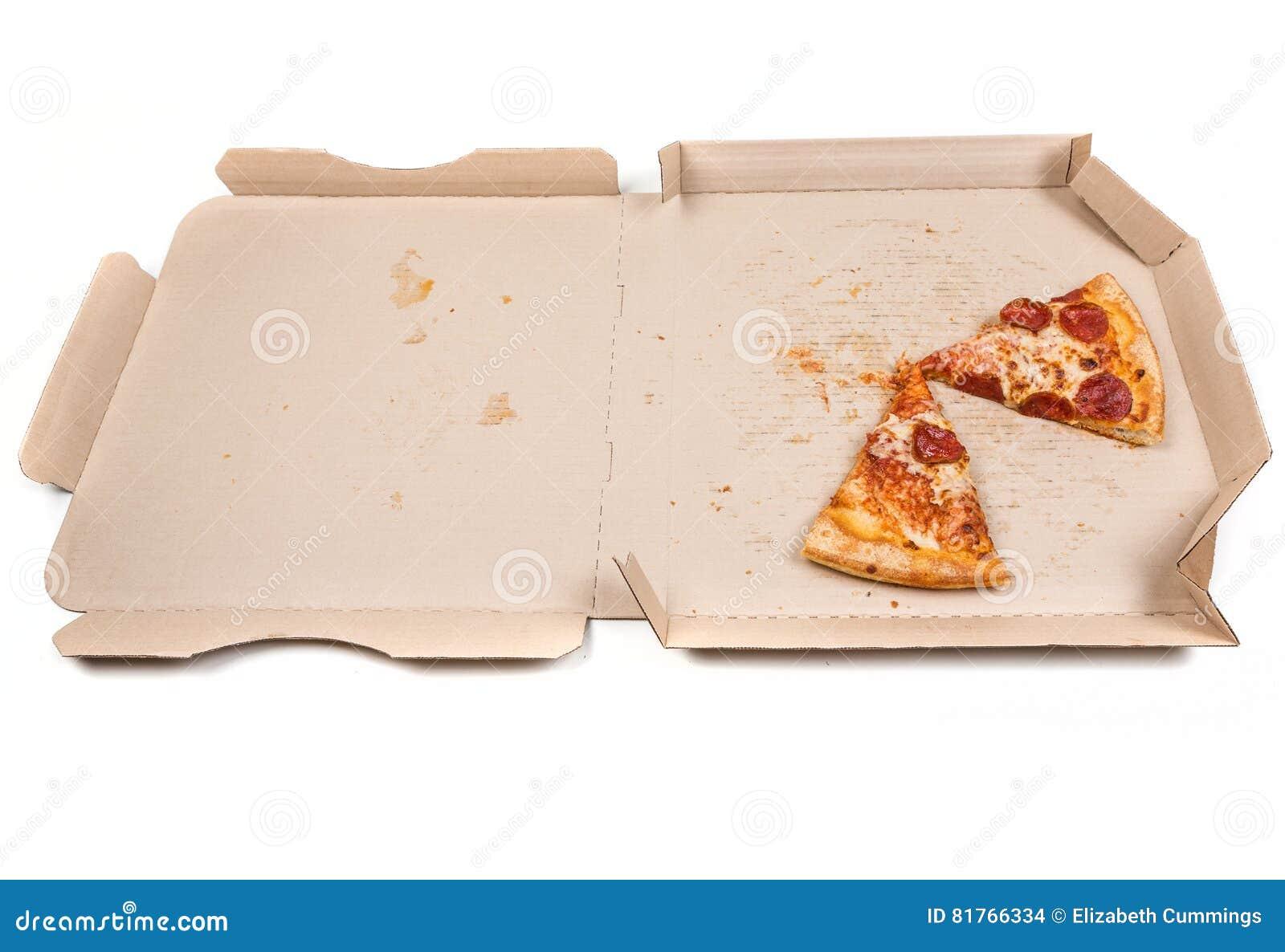 Остаток пицца в коробке