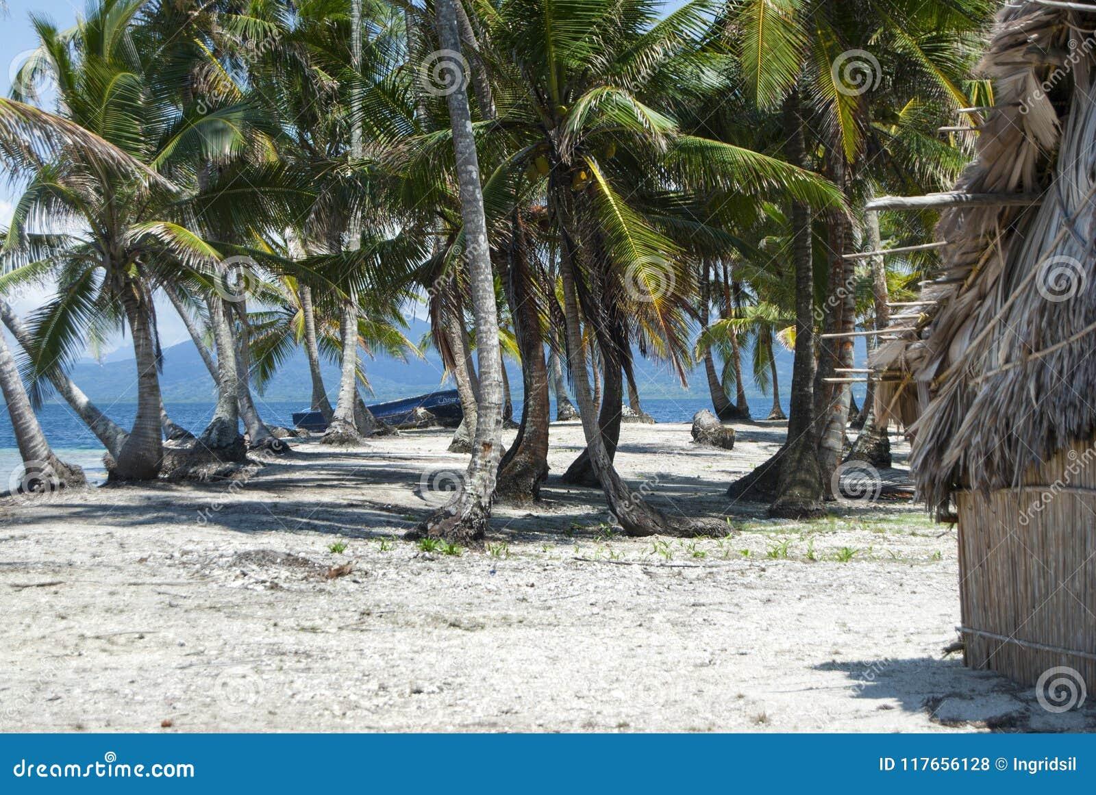 Острова рая в Guna Yala, Kuna Yala, Сан Blas, Панаме Заход солнца Восход солнца