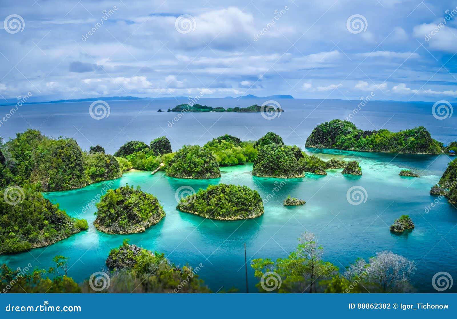 Острова Pianemo, раджа Ampat, западная Папуа, Индонезия