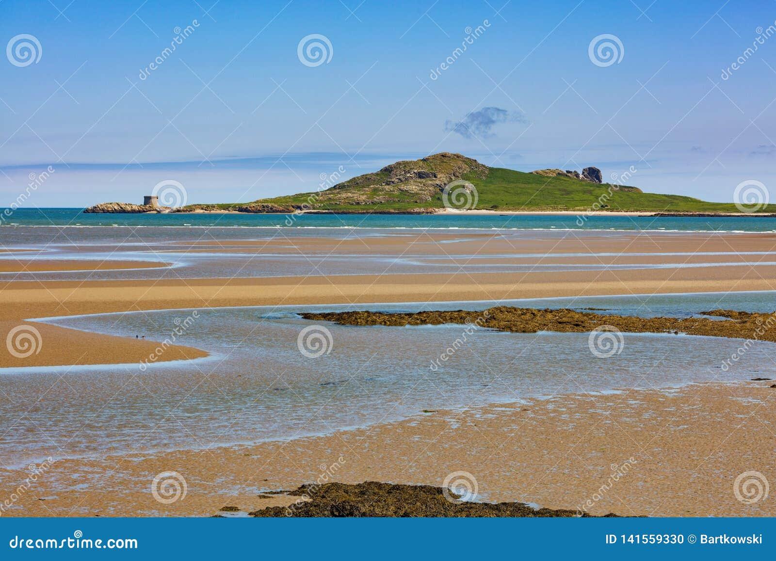 Остров глаза Ирландии на восточном побережье Ирландии