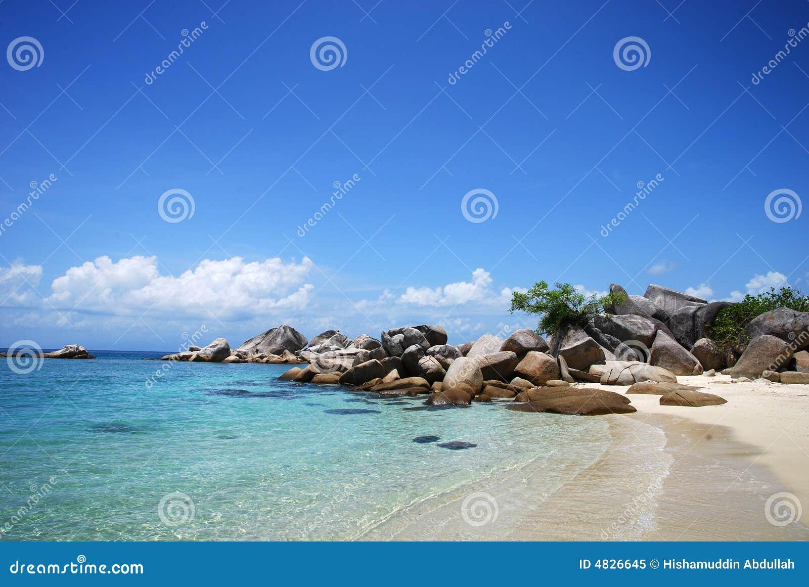 остров пляжа perhentian