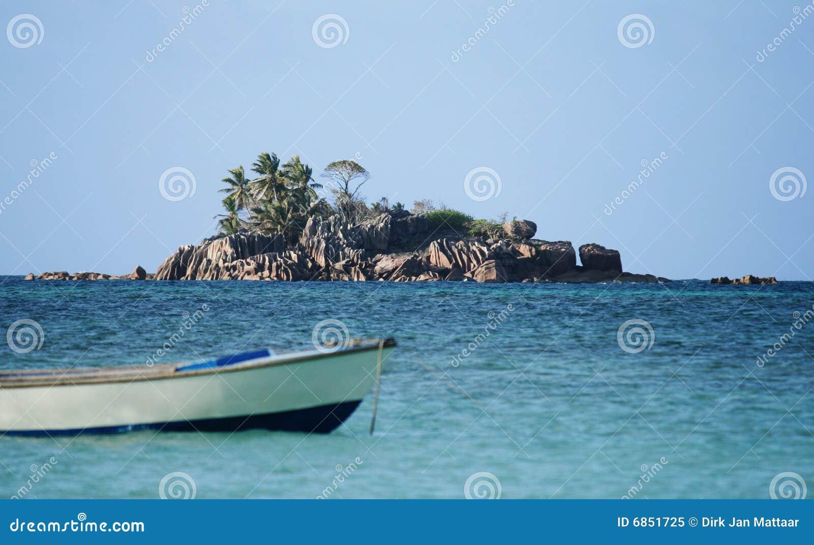 остров Сейшельские островы гранита
