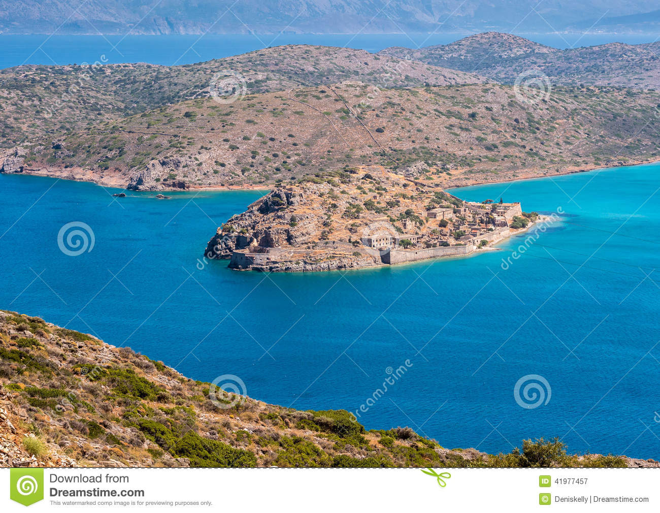 Остров Spinalonga, Крит, Греция
