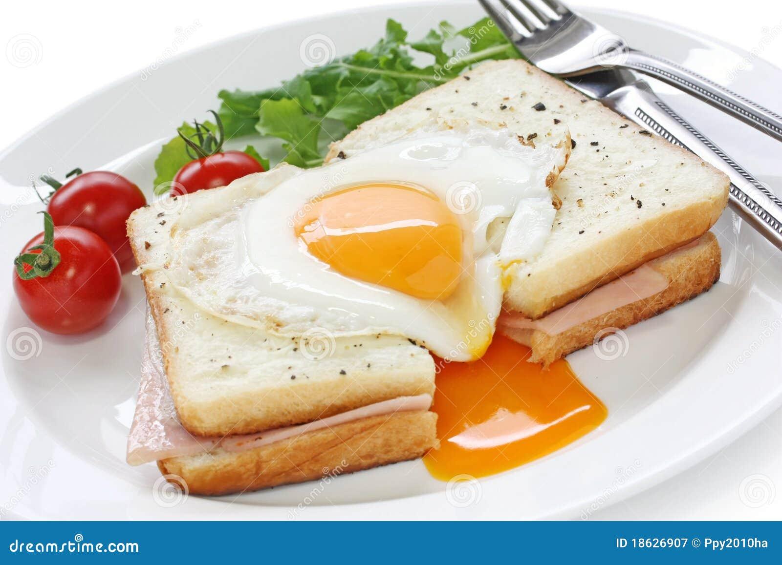 острословие сандвича madame ветчины croque сыра французское