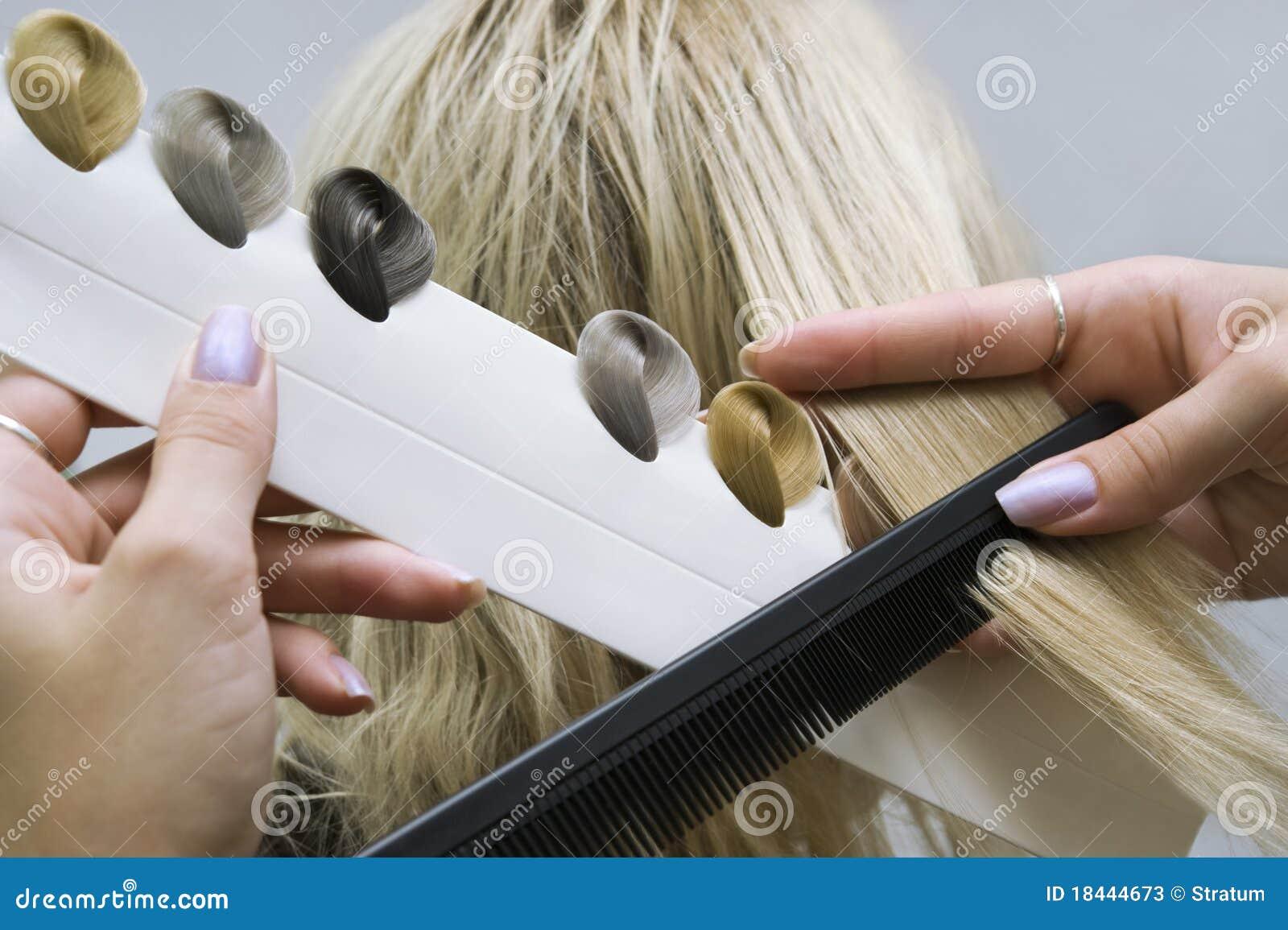 Схема окраски волос тон в тон