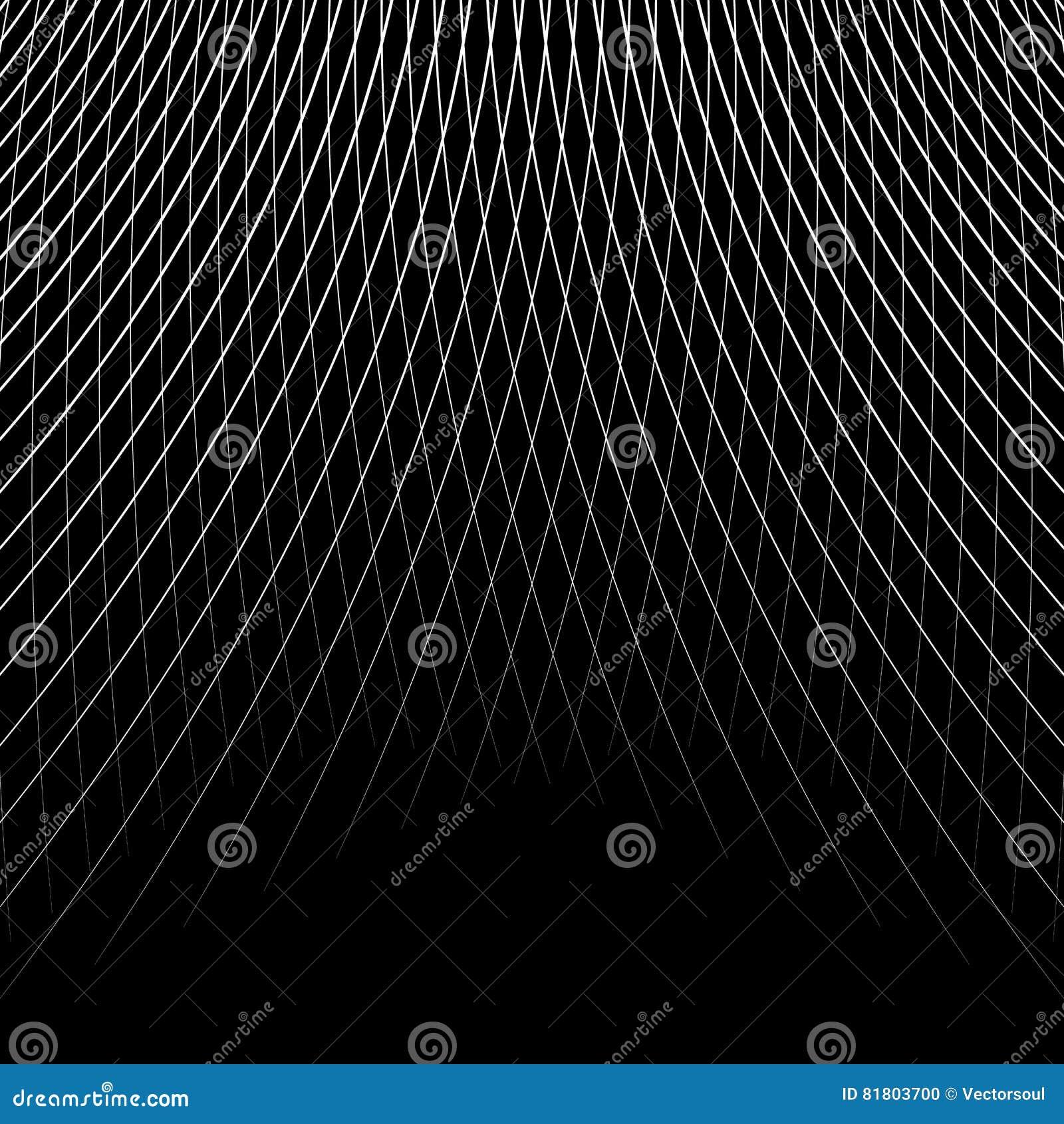 Отверстие щетки динамических изогнутых линий абстрактная геометрическая картина