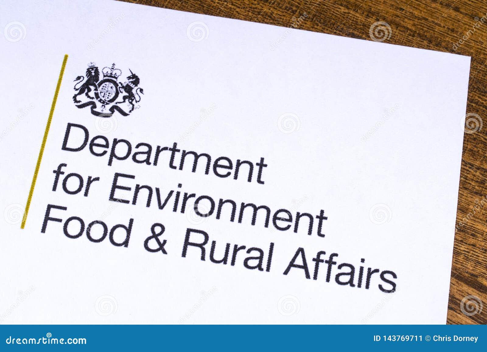 Отдел Великобритании для еды окружающей среды и сельских дел