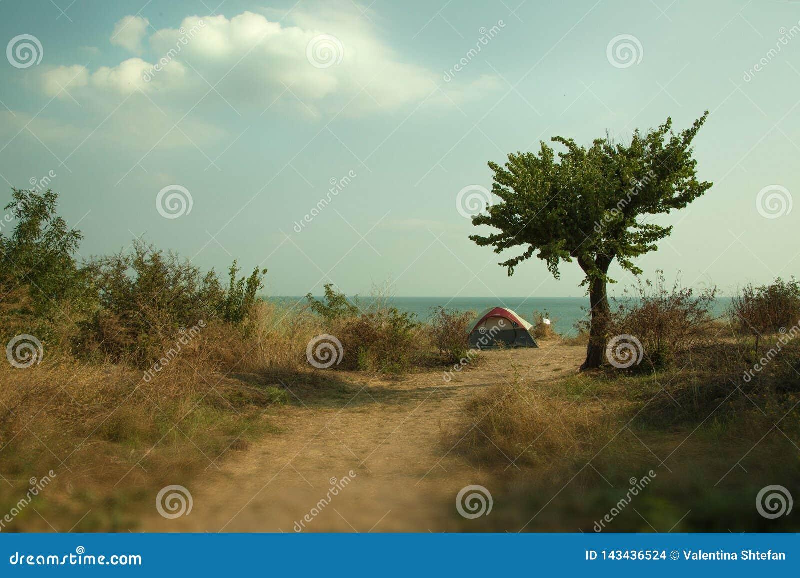 Отдыхать с шатром морем