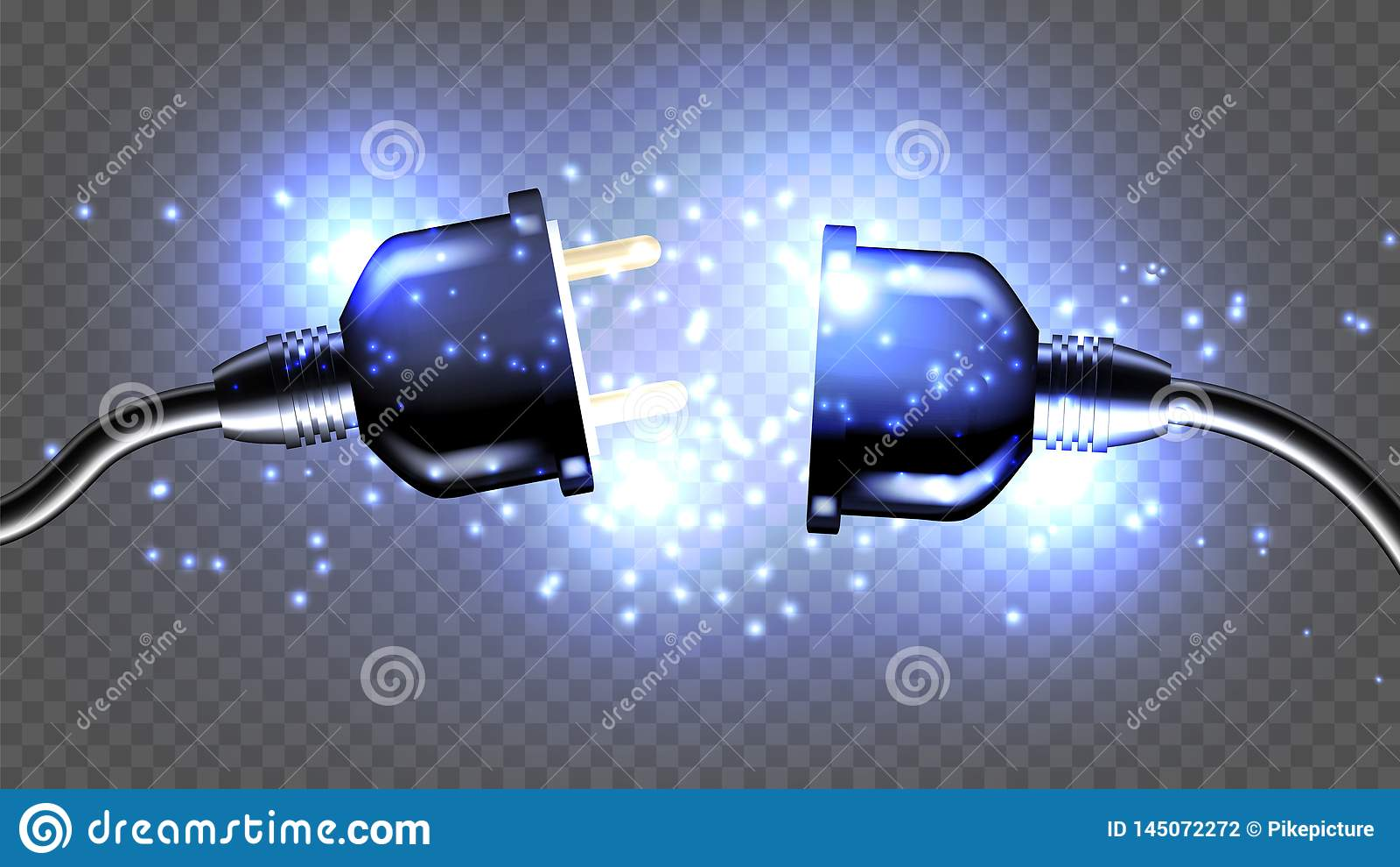 Отключенная иллюстрация 3D электрического вектора штепсельной вилки р