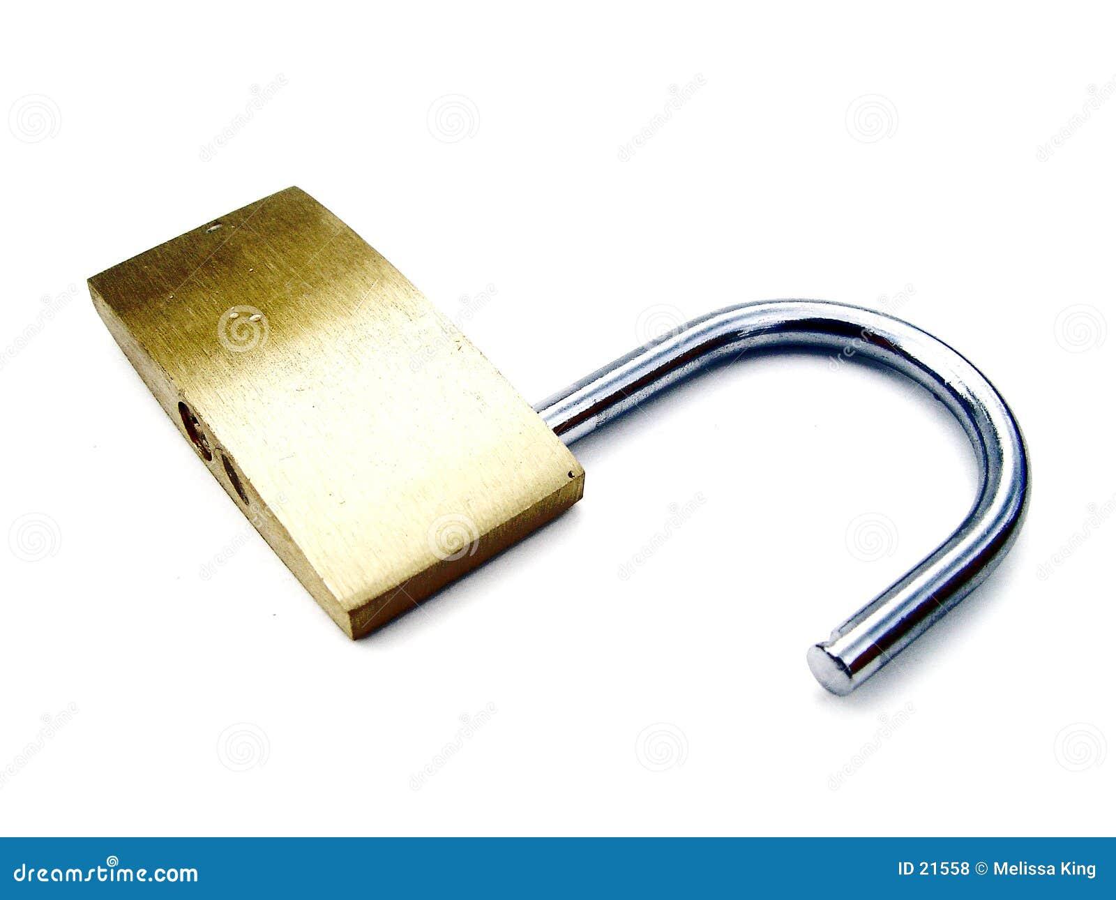 открынный padlock светлого тонового изображения