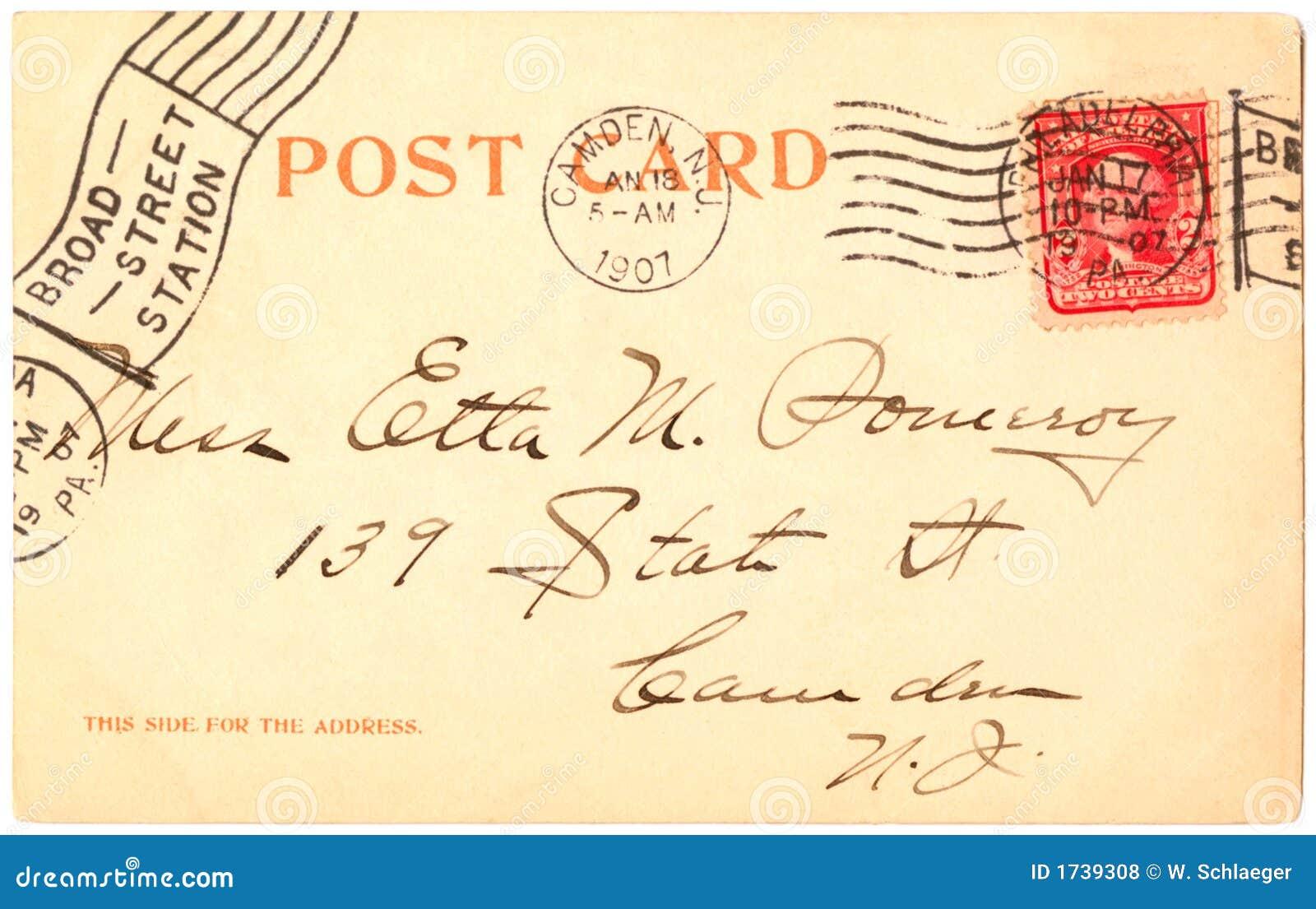 открытка 1907