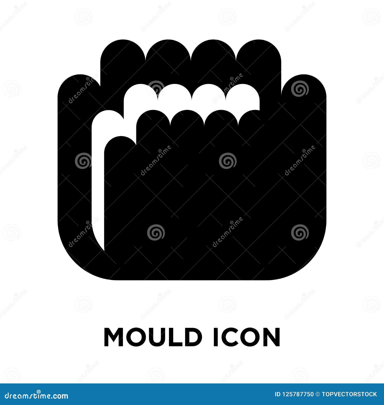 Отлейте вектор в форму значка изолированный на белой предпосылке, концепции логотипа