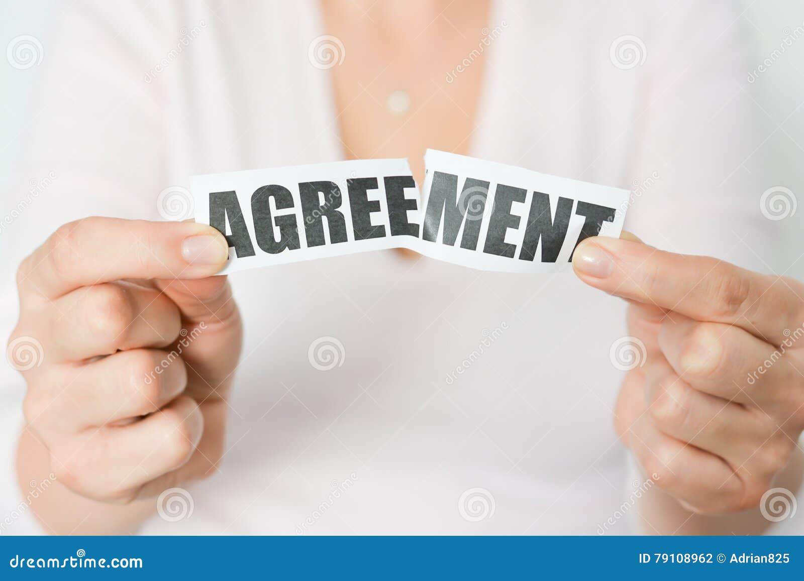 Отмените согласование или увольте концепцию контракта