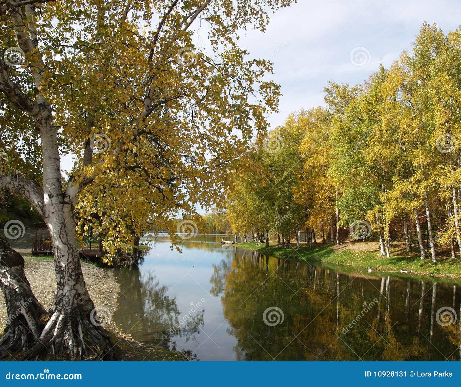 отражая валы реки