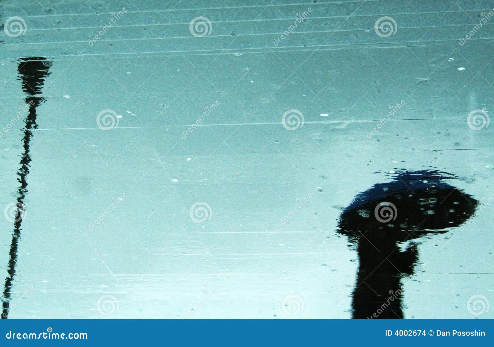 отражение дождя