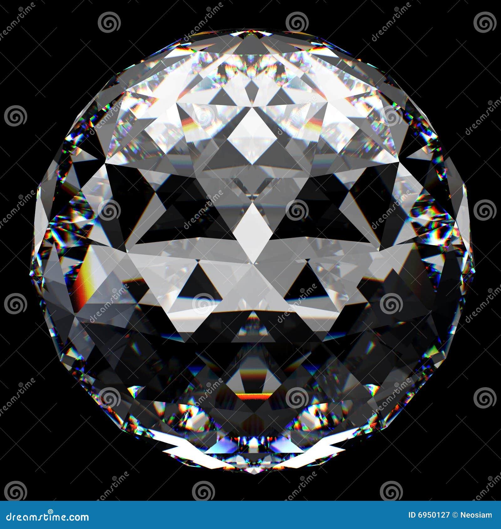 отражение кристалла шарика