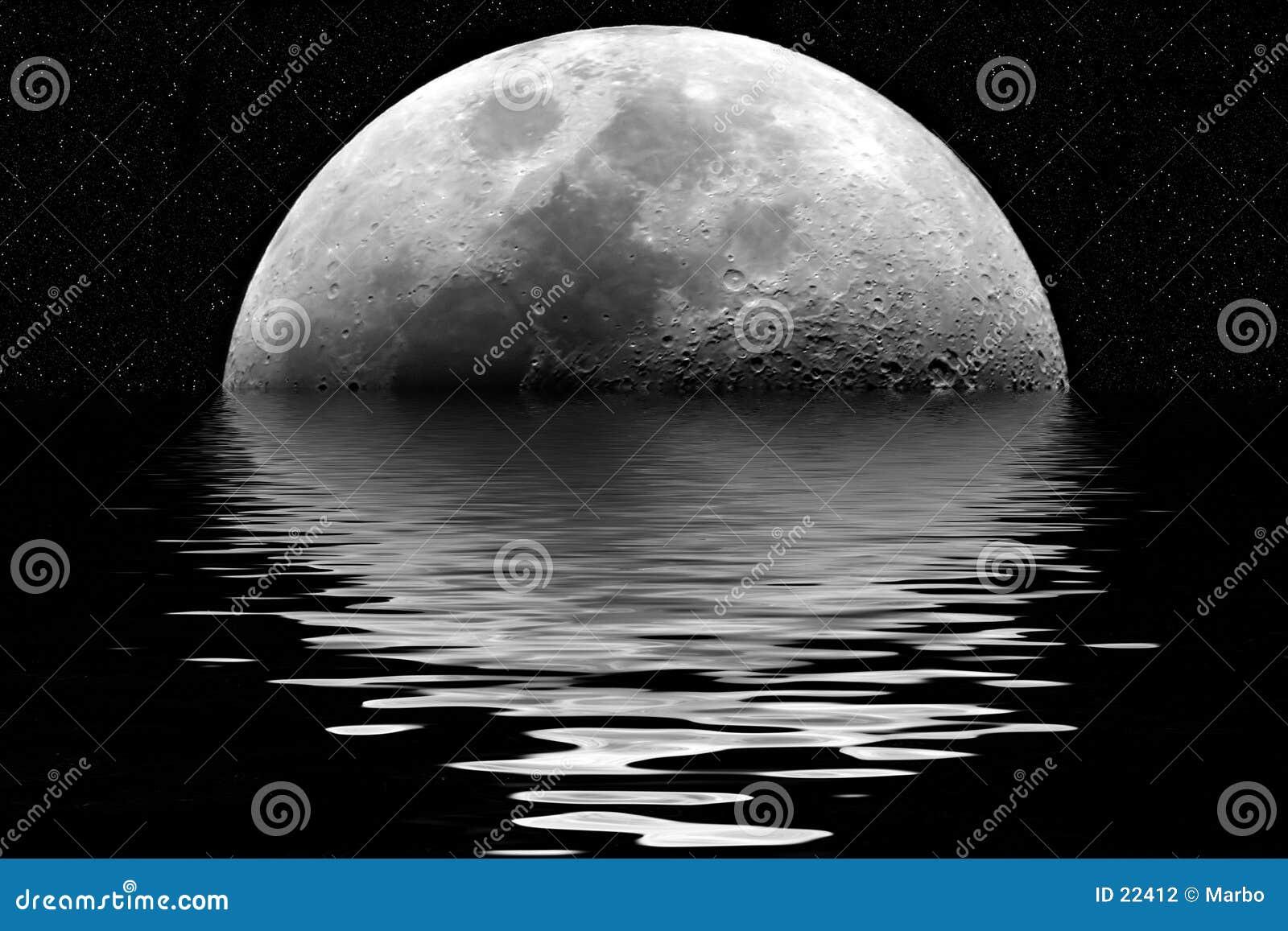 отражение луны