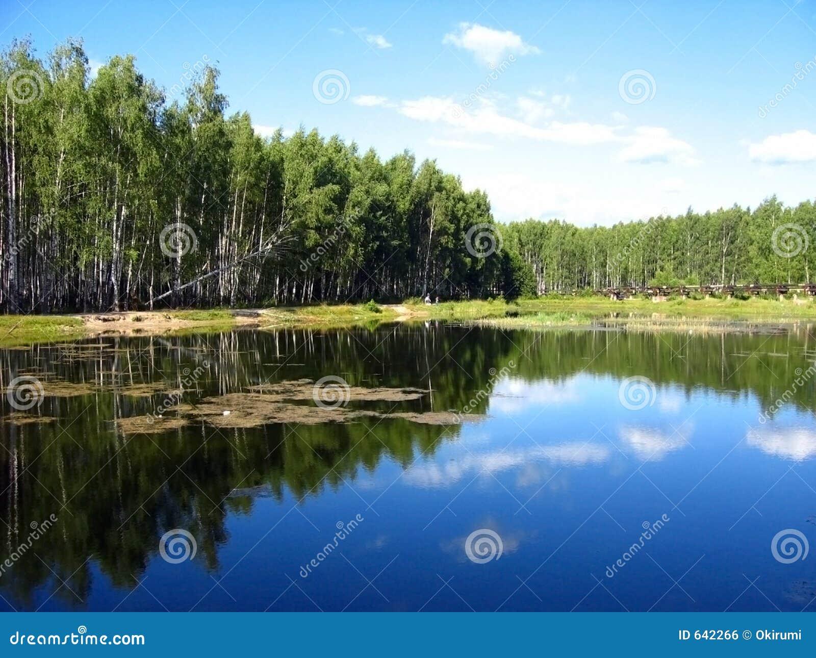 Download отражение озера стоковое фото. изображение насчитывающей затишье - 642266