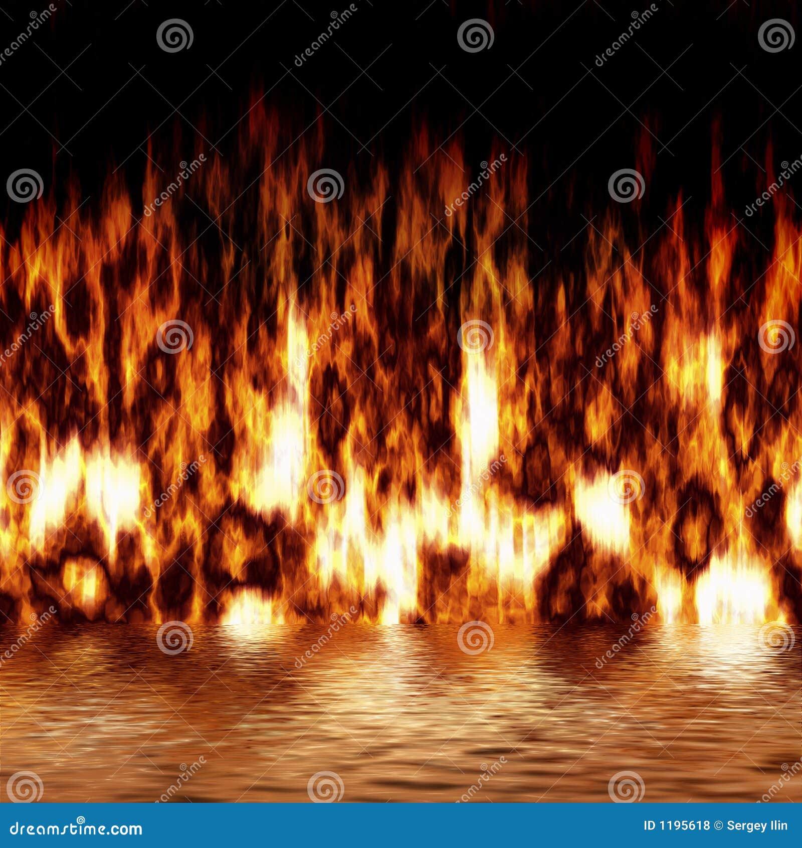 отражение пожара