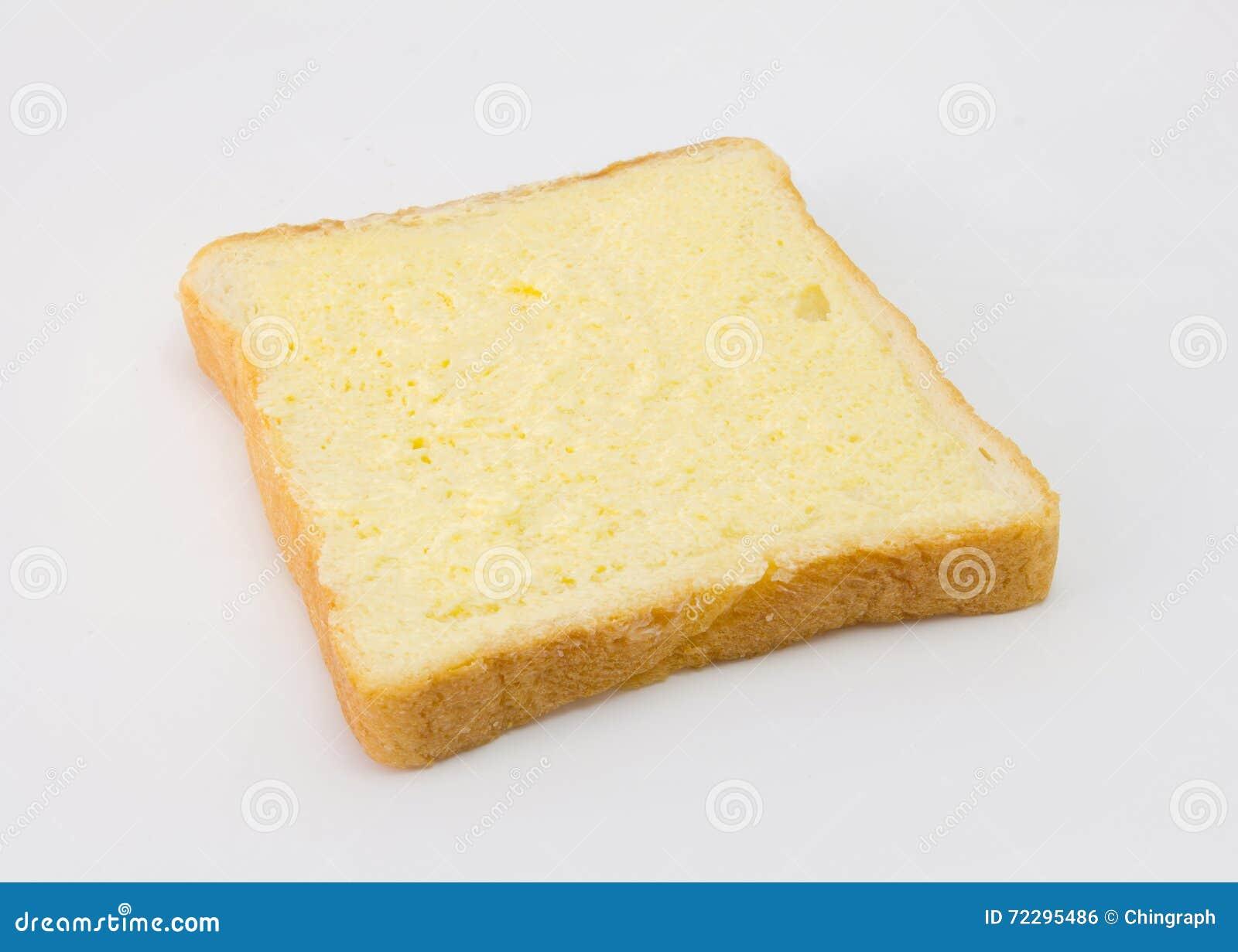 Download Отрезанный хлеб при сахар и масло на верхнем изолированные на белизне Стоковое Фото - изображение насчитывающей стог, изолировано: 72295486