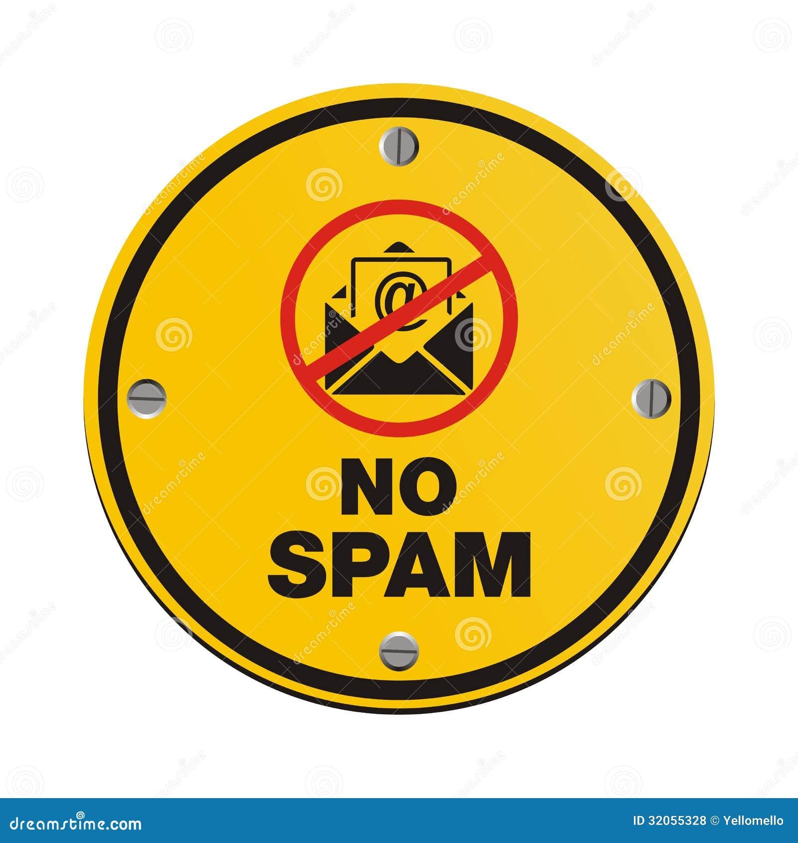 Отсутствие знака круга спама