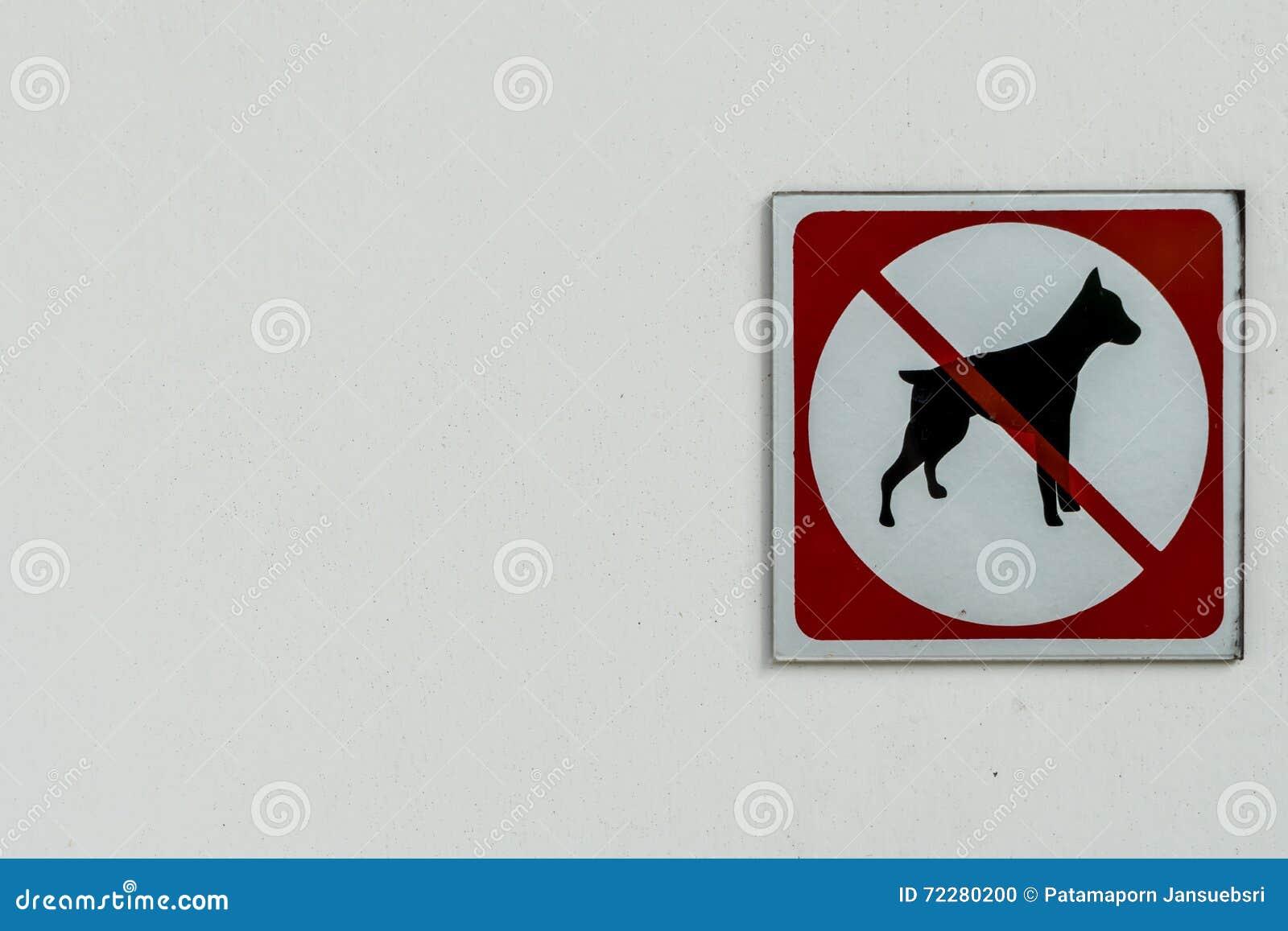 Download Отсутствие знака позволенного собакой Стоковое Фото - изображение насчитывающей зона, знак: 72280200