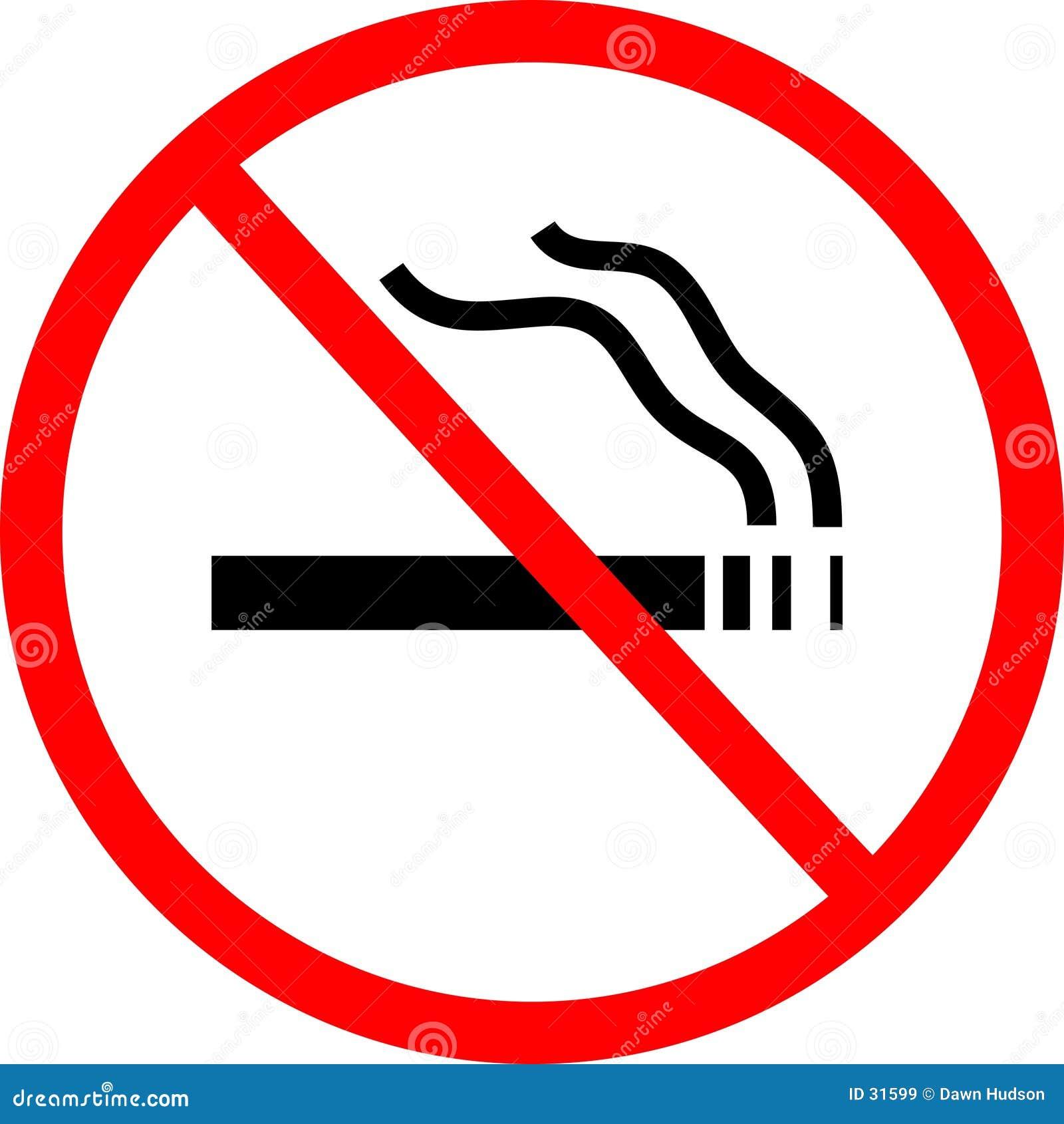 отсутствие курить знака