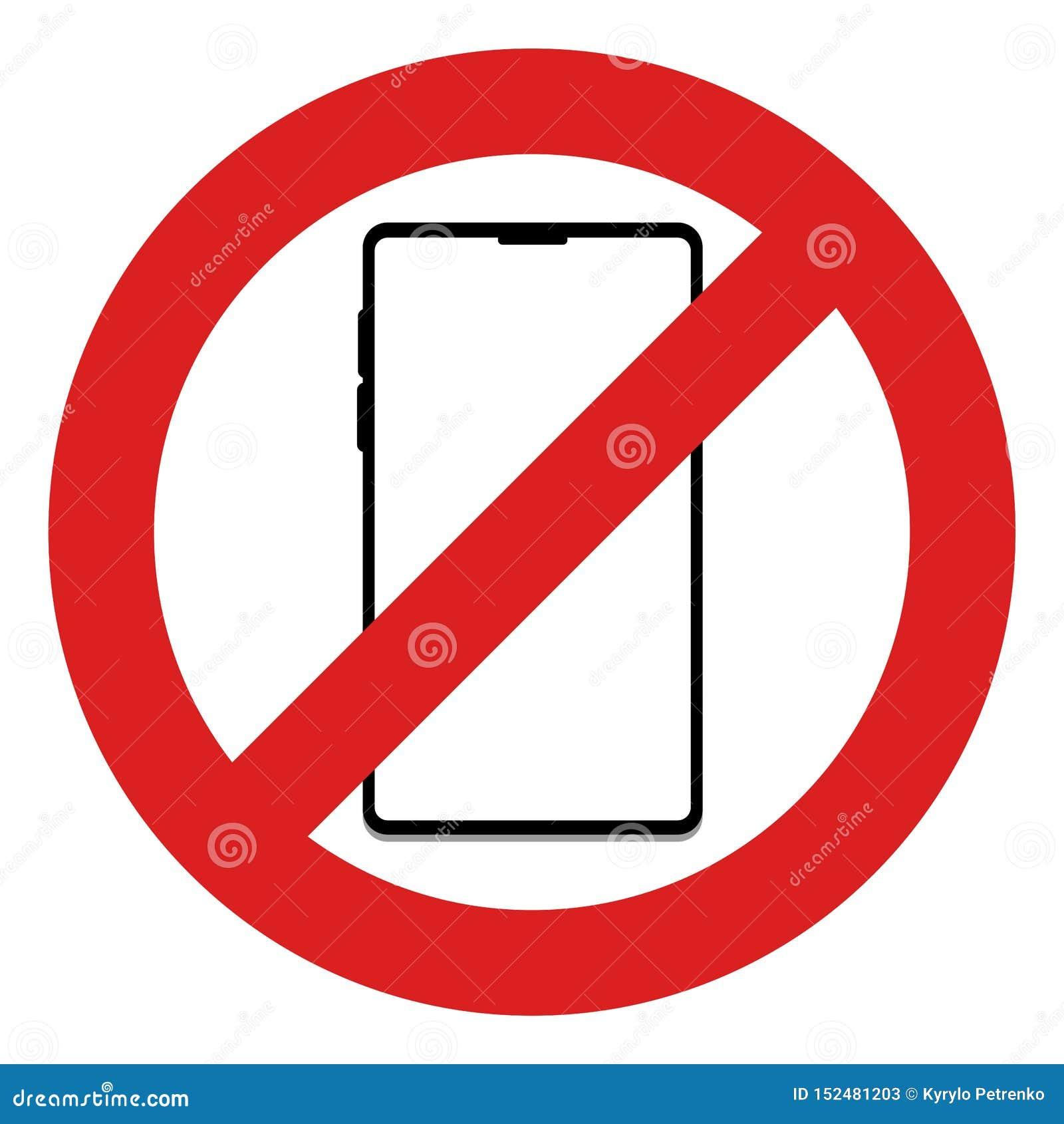 Отсутствие мобильного телефона в этом знаке зоны