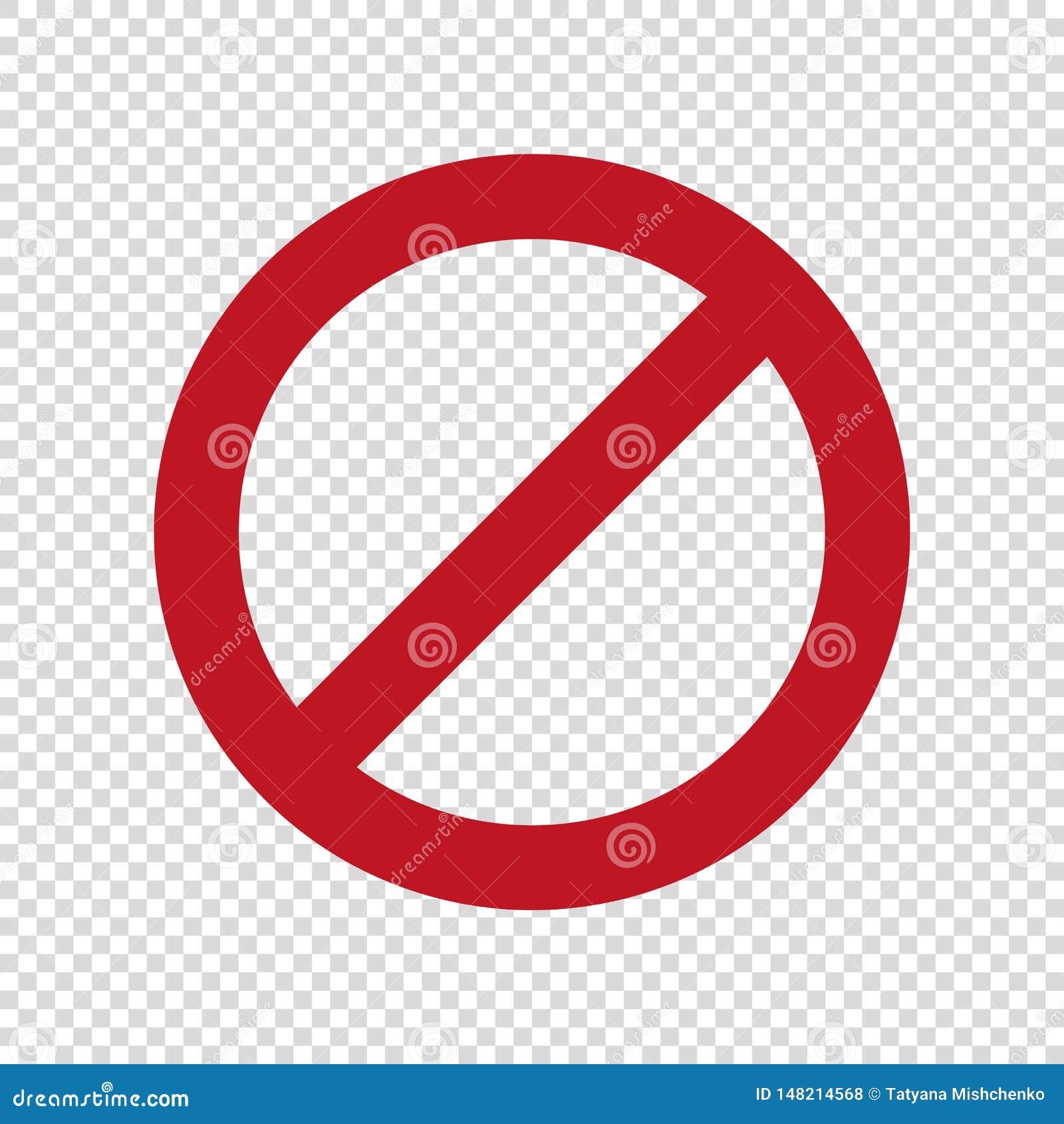 Отсутствие паркуя знака Стоп не вписывает значок вектора