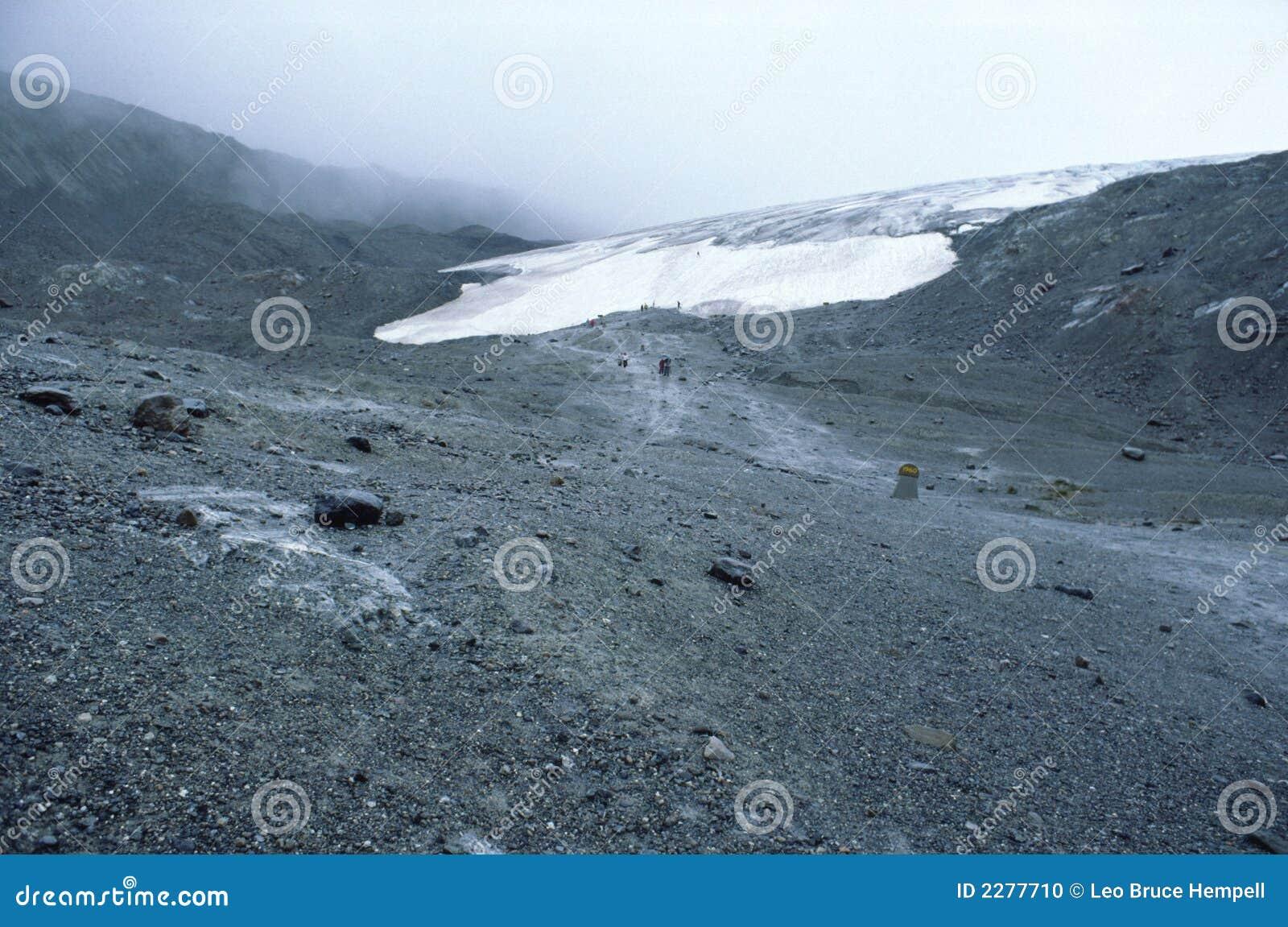 отходить ледника alberta Канады