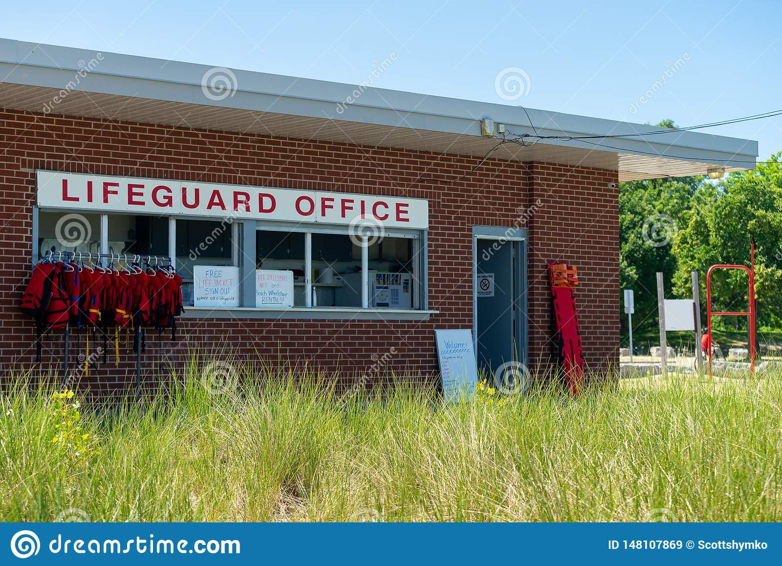 Офис личной охраны на пляже