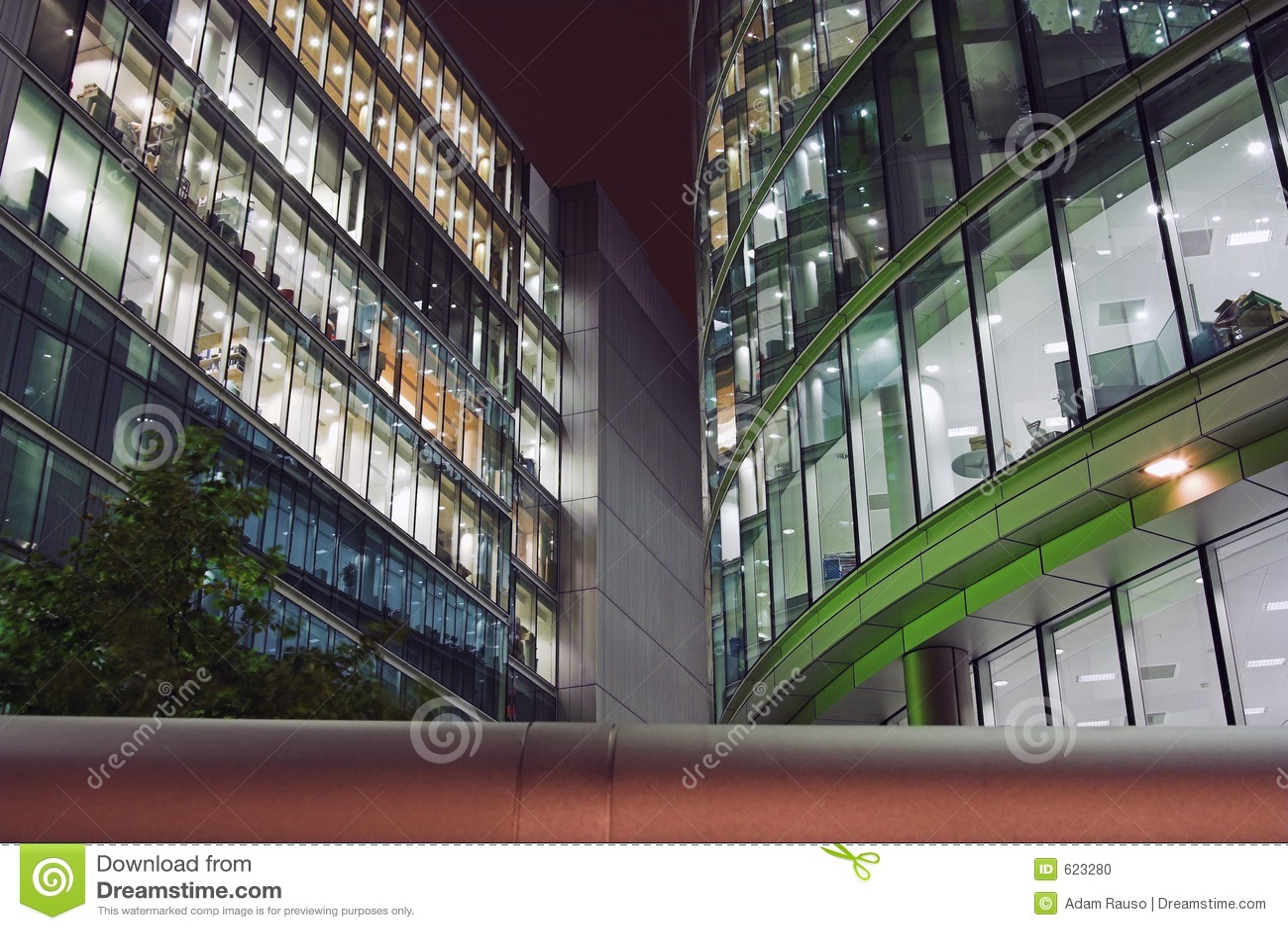 офис ночи london зданий