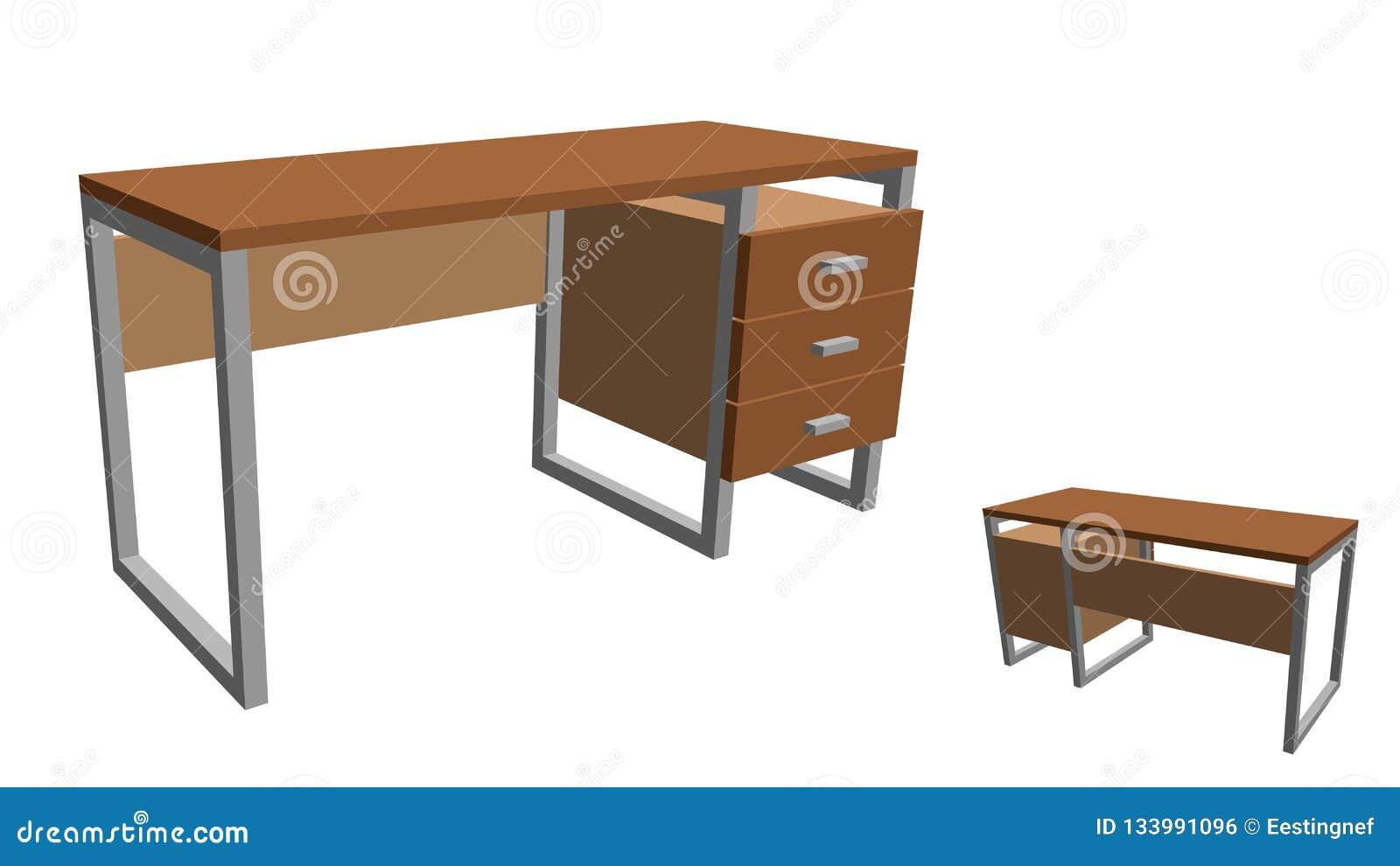 офис стола пустой белизна изолированная предпосылкой illus вектора 3d