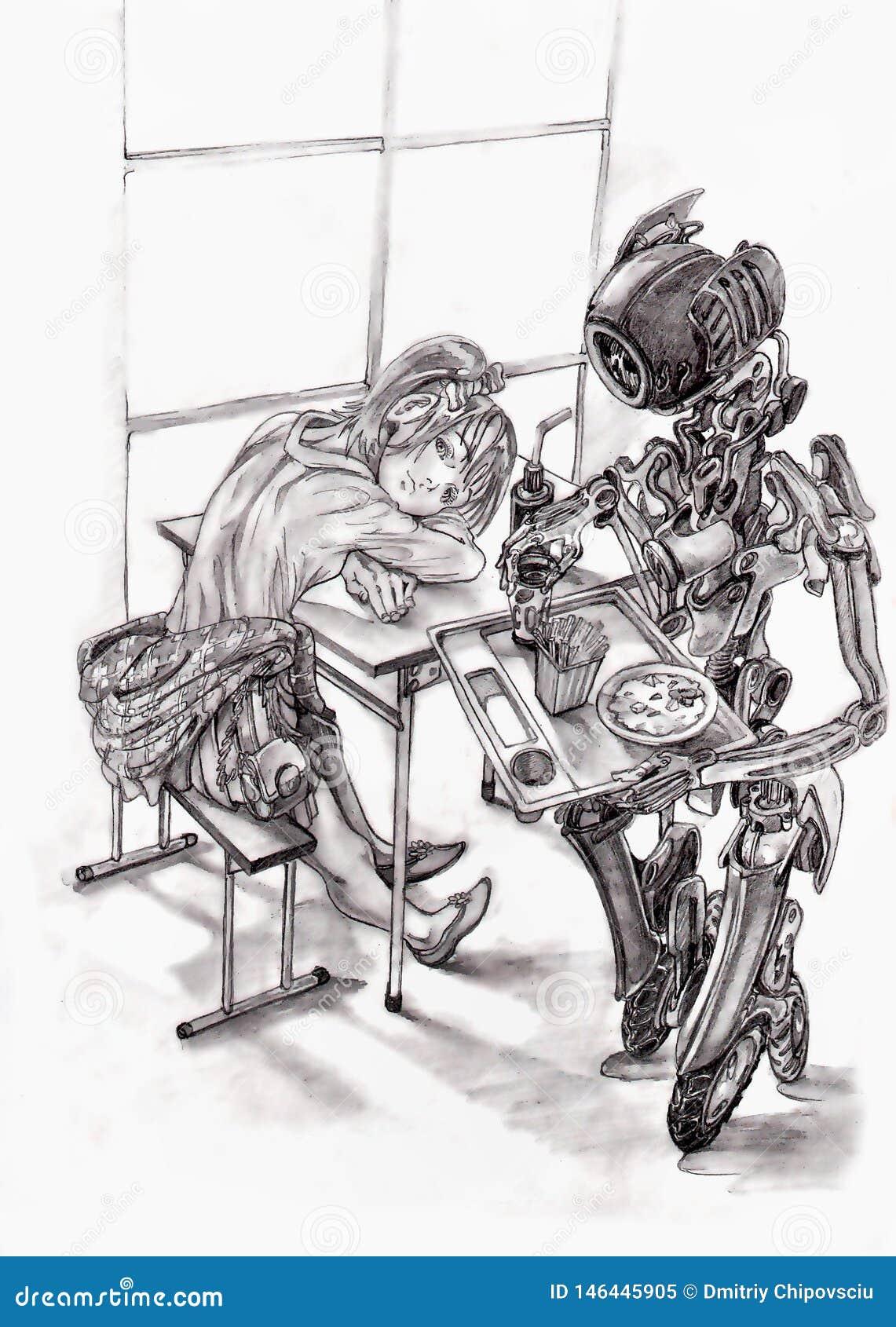 официант робота