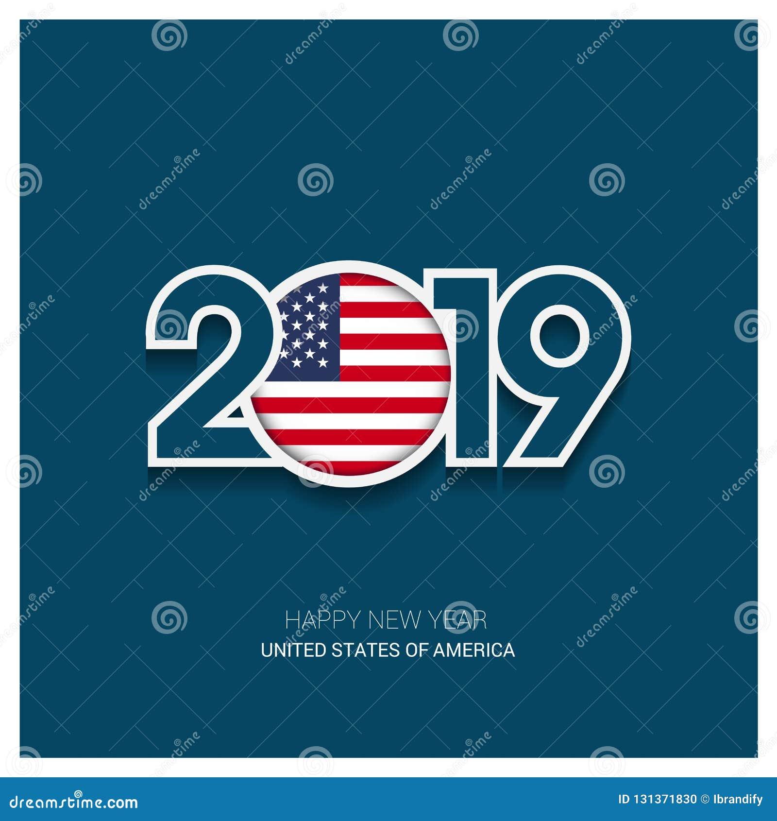 Оформление 2019 Соединенных Штатов Америки, С Новым Годом! Backgro