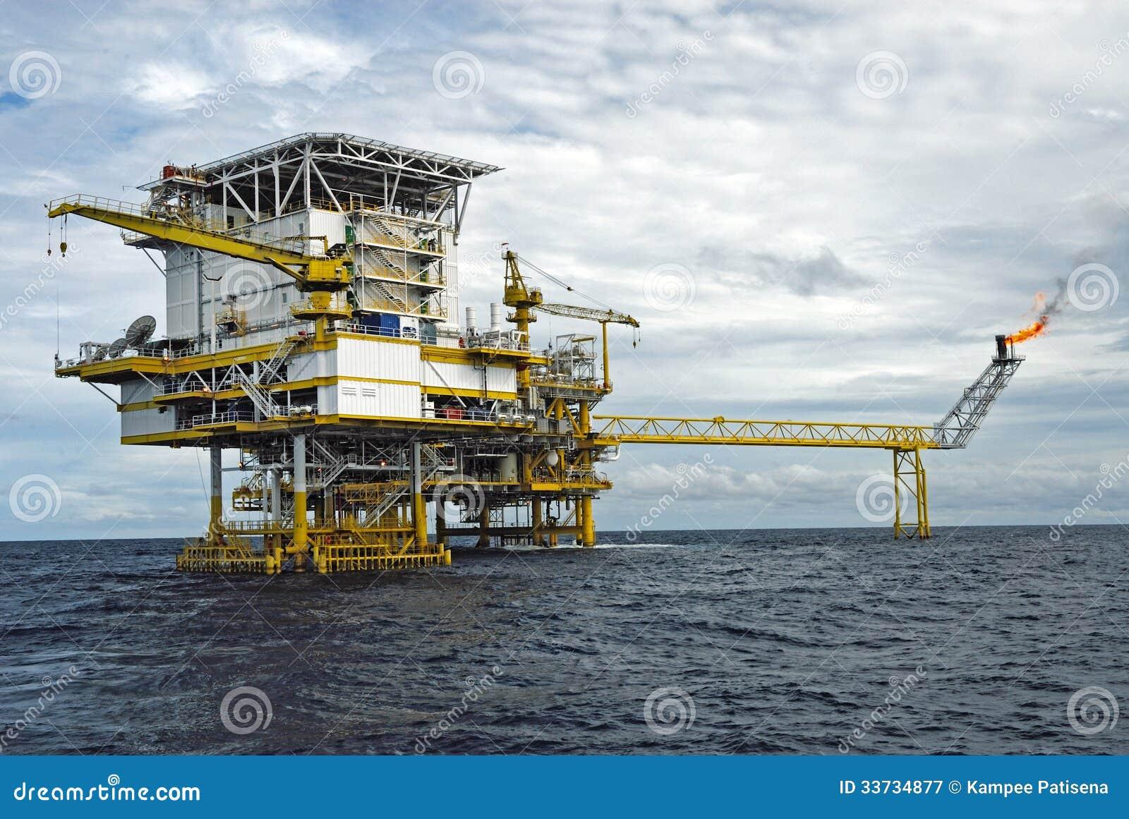 Оффшорная платформа продукции в Gulf of Thailand