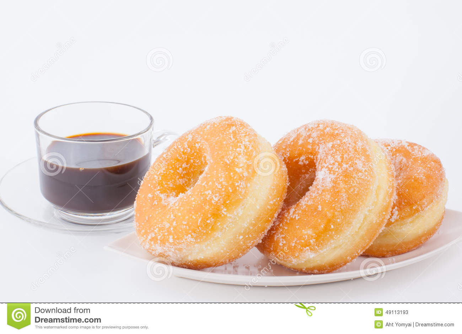 Очень вкусный донут кольца сахара