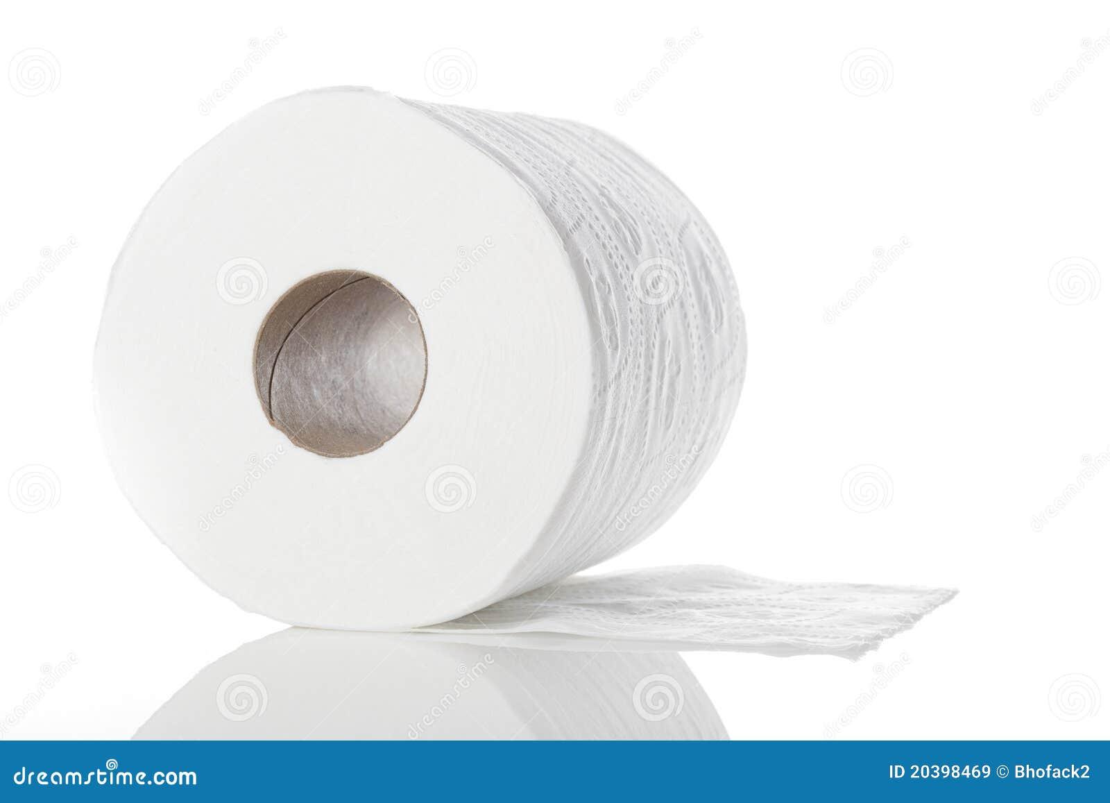 Очистьте белую туалетную бумагу