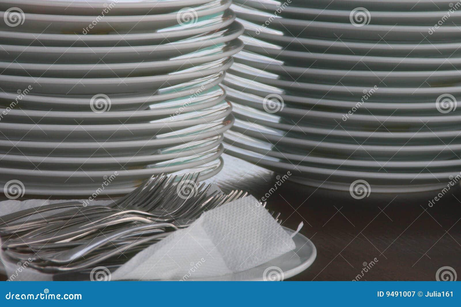 очистьте плиты вилок
