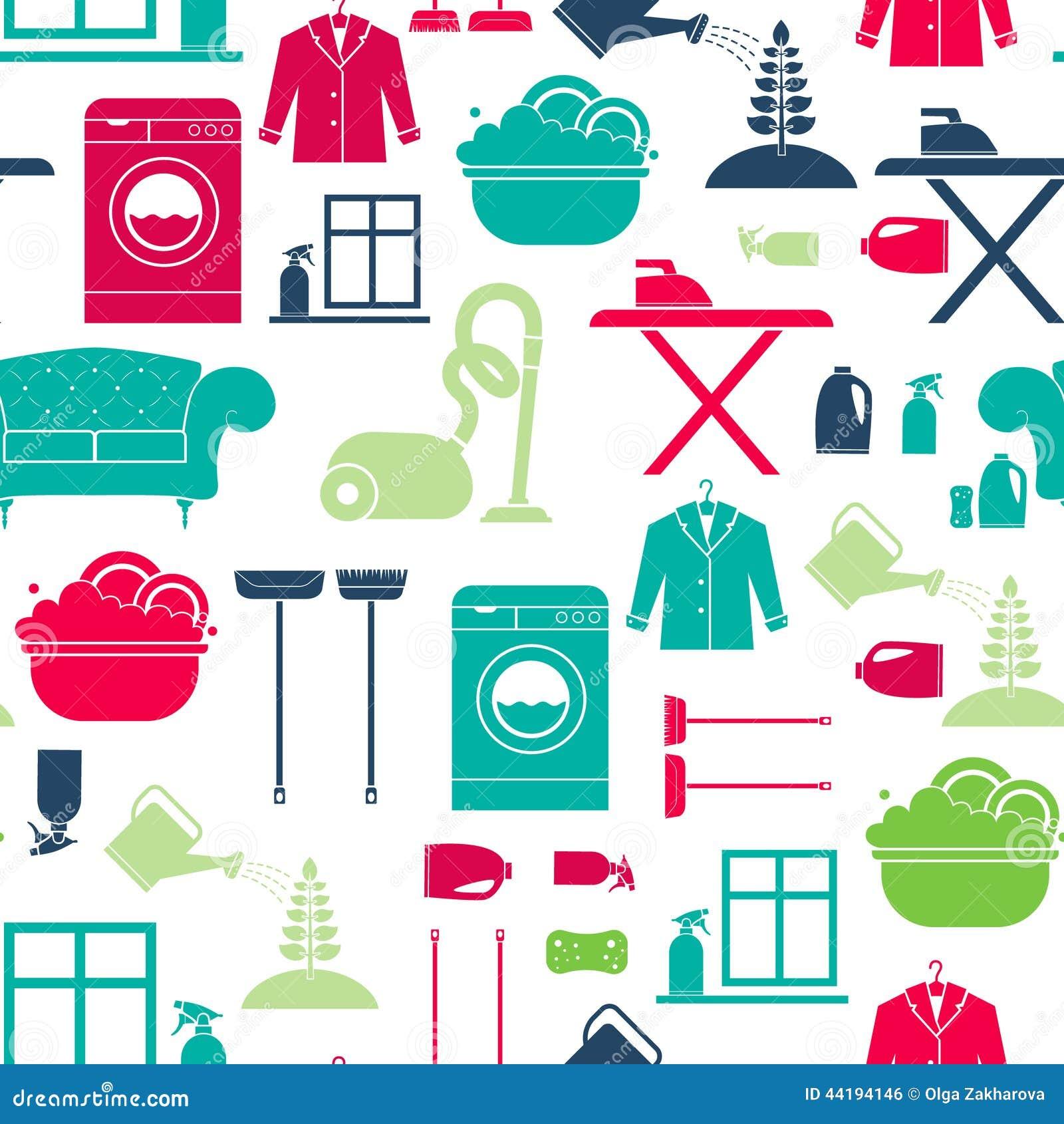 Очищать дома безшовный